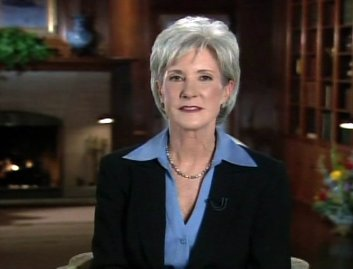 This still frame from television shows Kansas Gov. Kathleen Sebelius delivering the Democrat's response to the State of the Union address at Cedar Crest, the Kansas Governors' mansion, in Topeka, Kan., on Jan. 28, 2008.