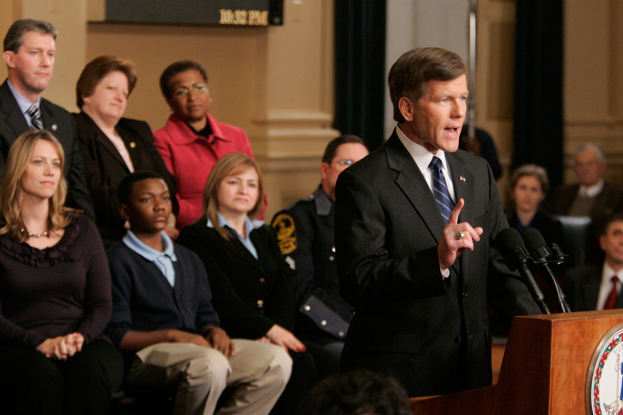 Virginia Gov. Bob McDonnell delivers the Republican Response to the State of the Union in the Virginia House of Delegates chambers at the Capitol in Richmond, Va., on, Jan. 27, 2010.