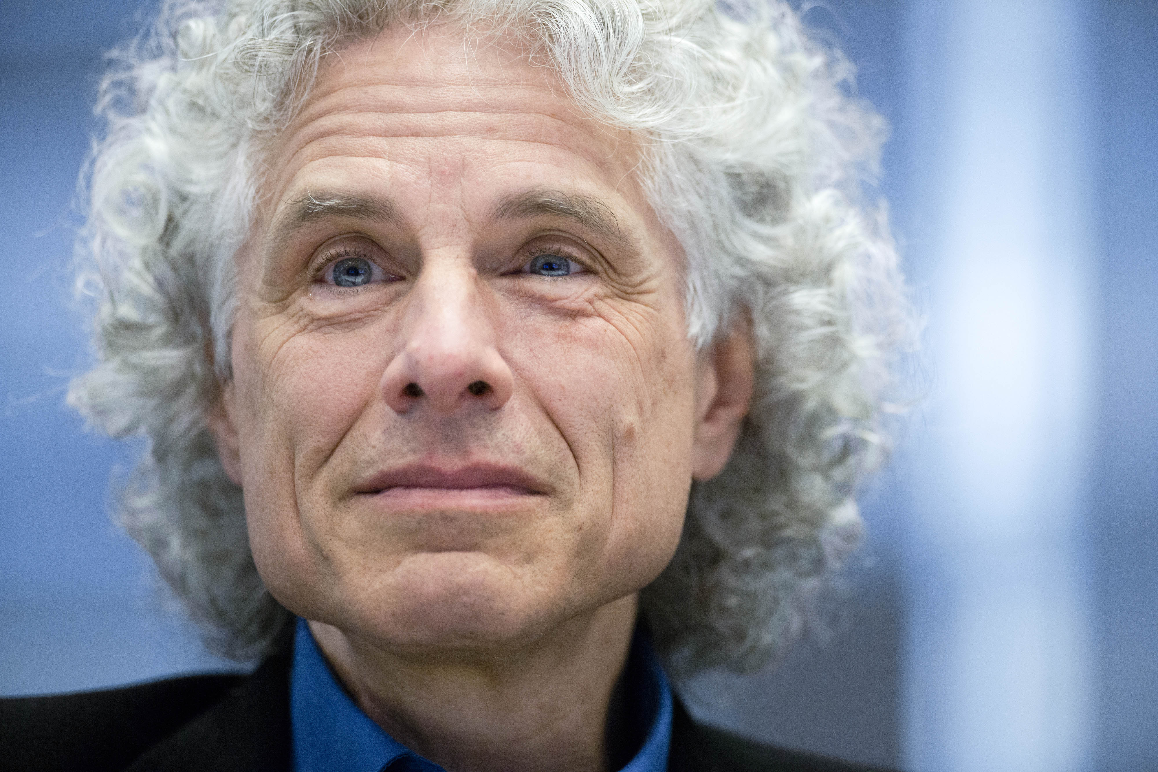 Steven Pinker during an interview in New York City on May 22, 2015.