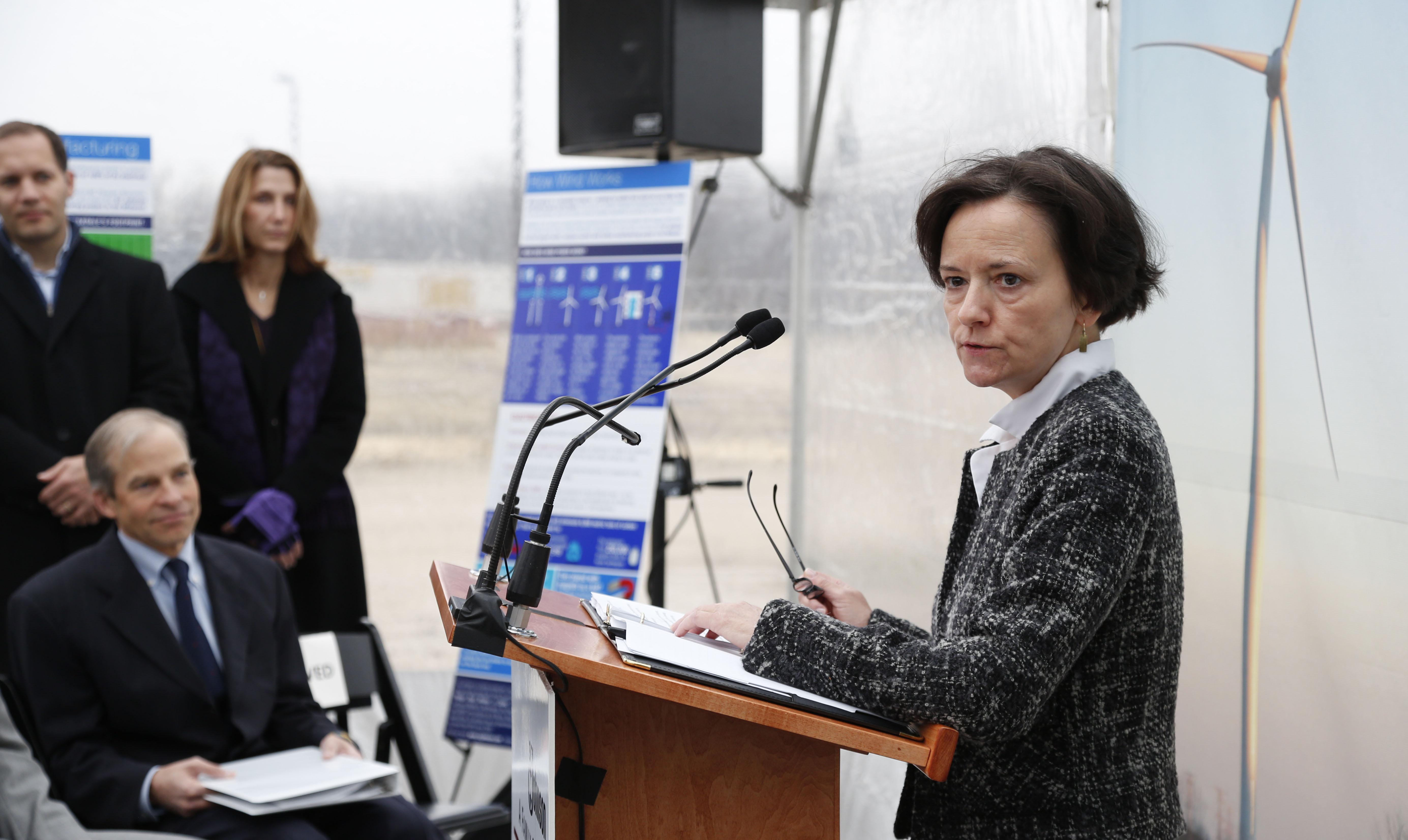 Dr. Susan Hedman, U.S. EPA region 5 Administrator, in Mt. Pleasant, Wis. on Dec. 18, 2012.