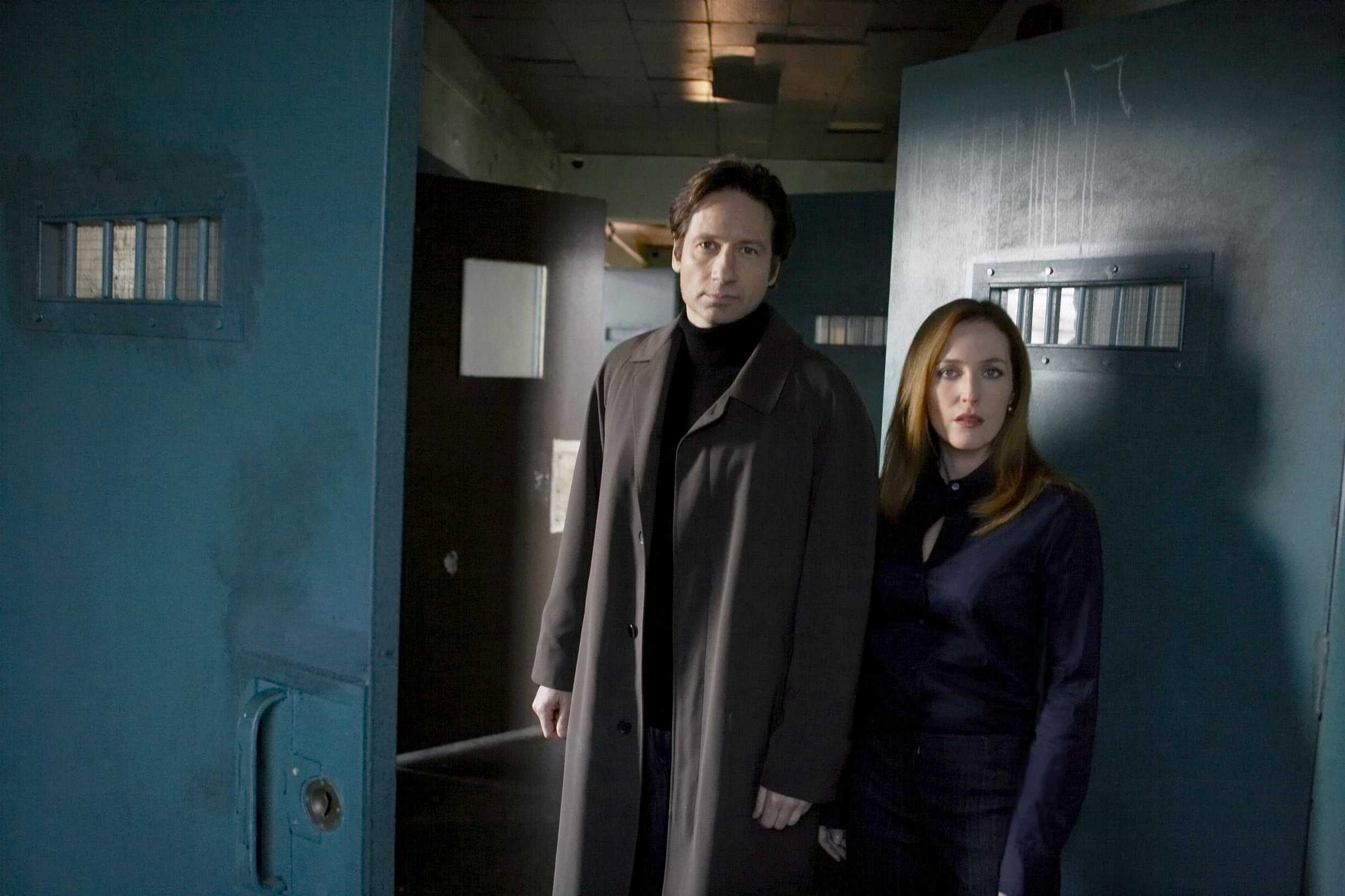 David Duchovny and Gillian Anderson are seen in the film <i>The X-Files: I Want to Believe</i> in 2008.
