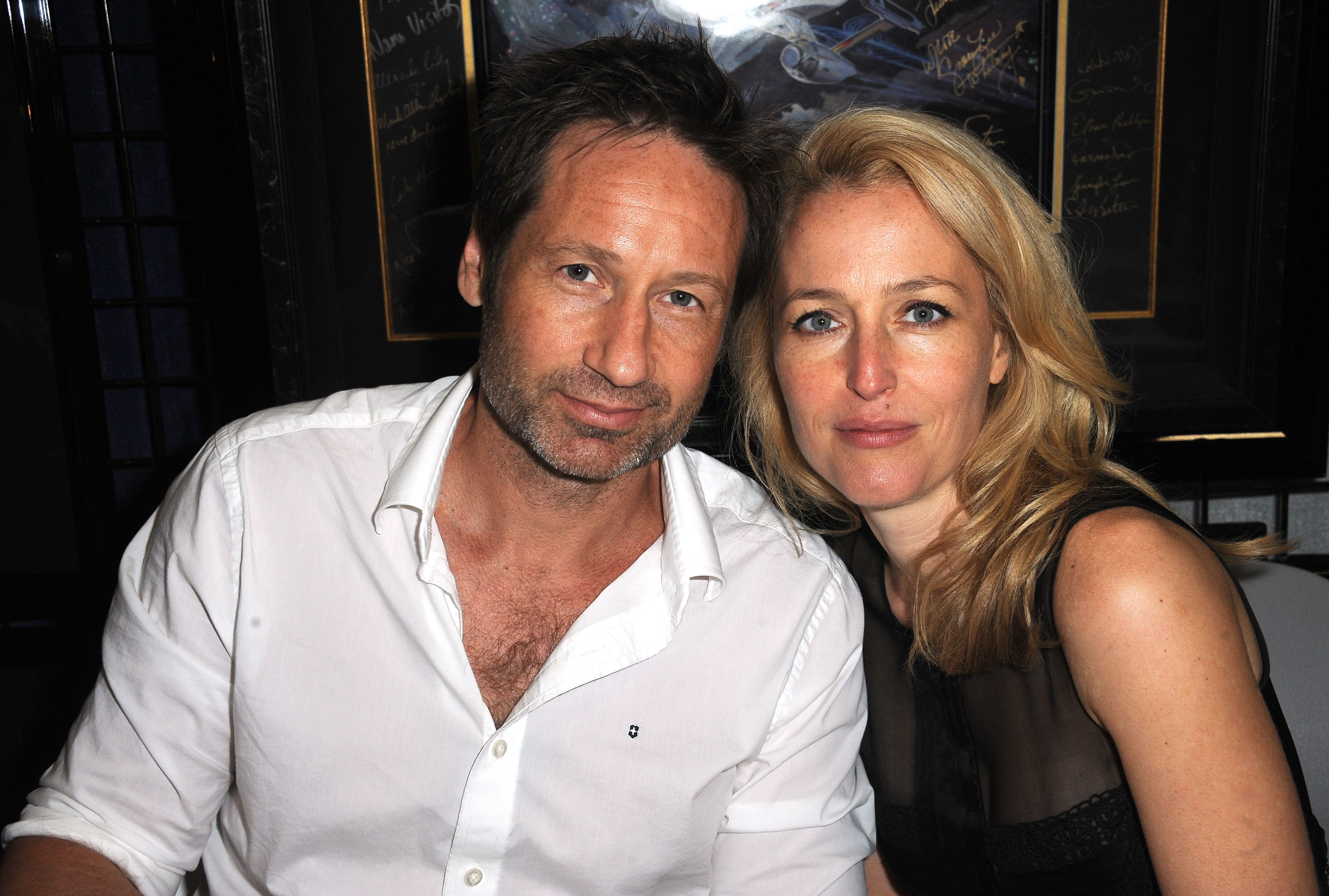 David Duchovny and Gillian Anderson are seen at Comic-Con in San Diego, Calif. on July 18, 2012.