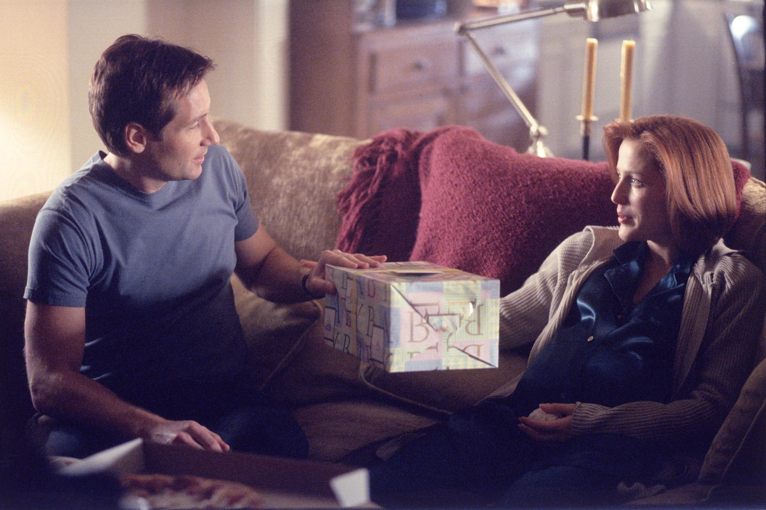 David Duchovny and Gillian Anderson are seen in <i>The X-Files</i> in 2001.
