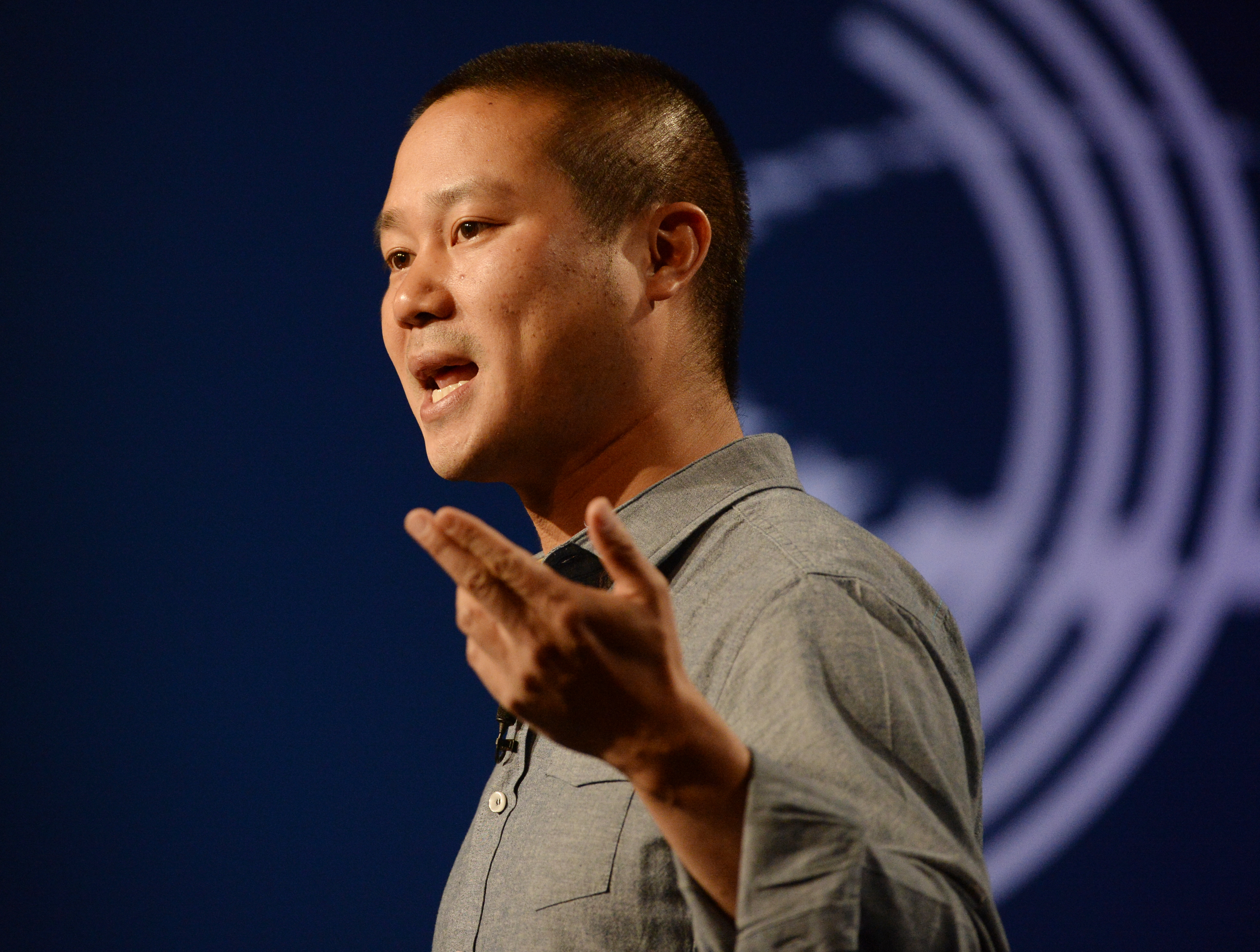 Zappos CEO Tony Hsieh speaks at the Clinton Global Initiative America at the Sheridan, Denver on June 25, 2014.