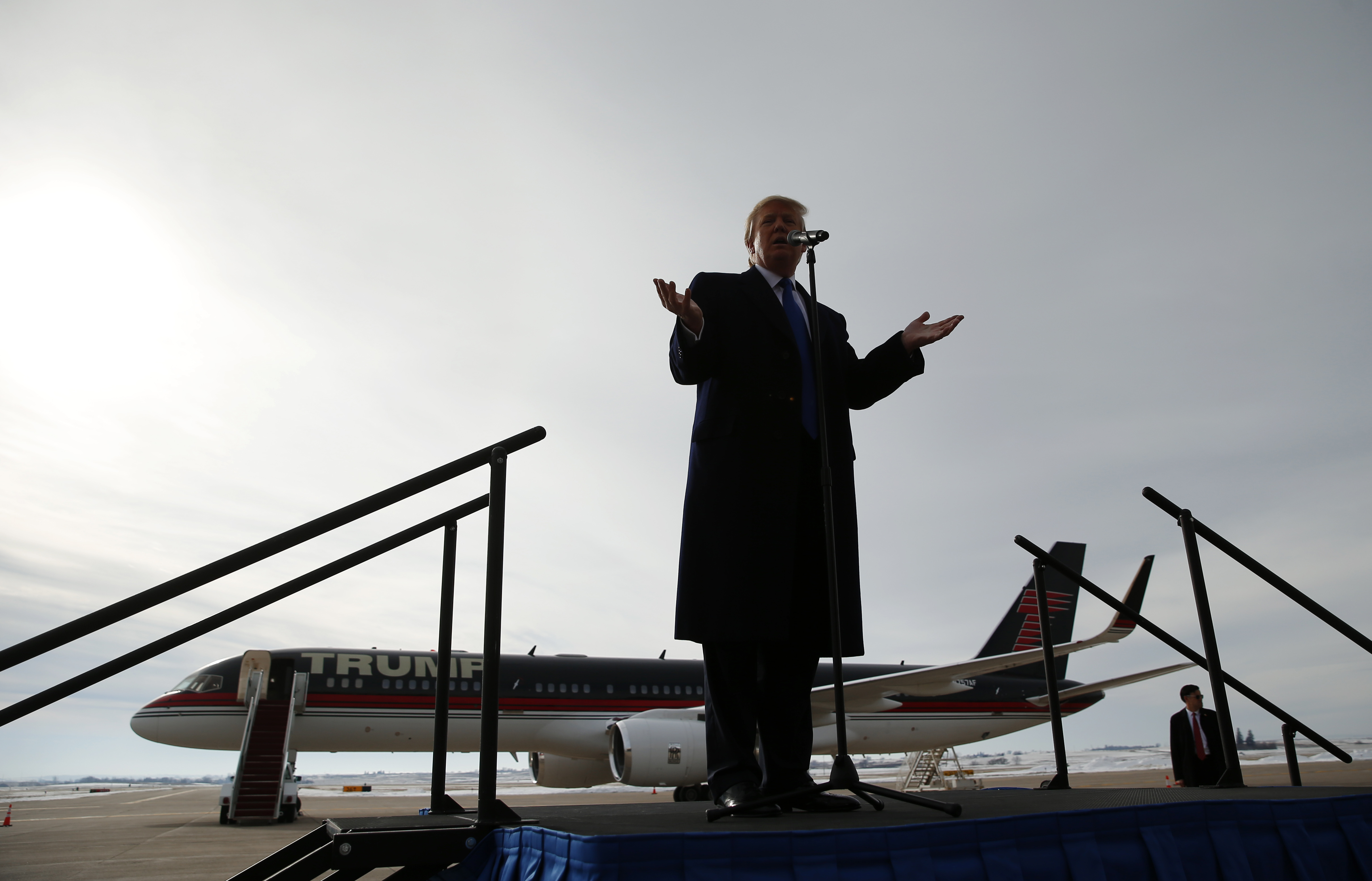 Donald Trump speaks during a campaign event in Dubuque, IA on Jan. 30, 2016.