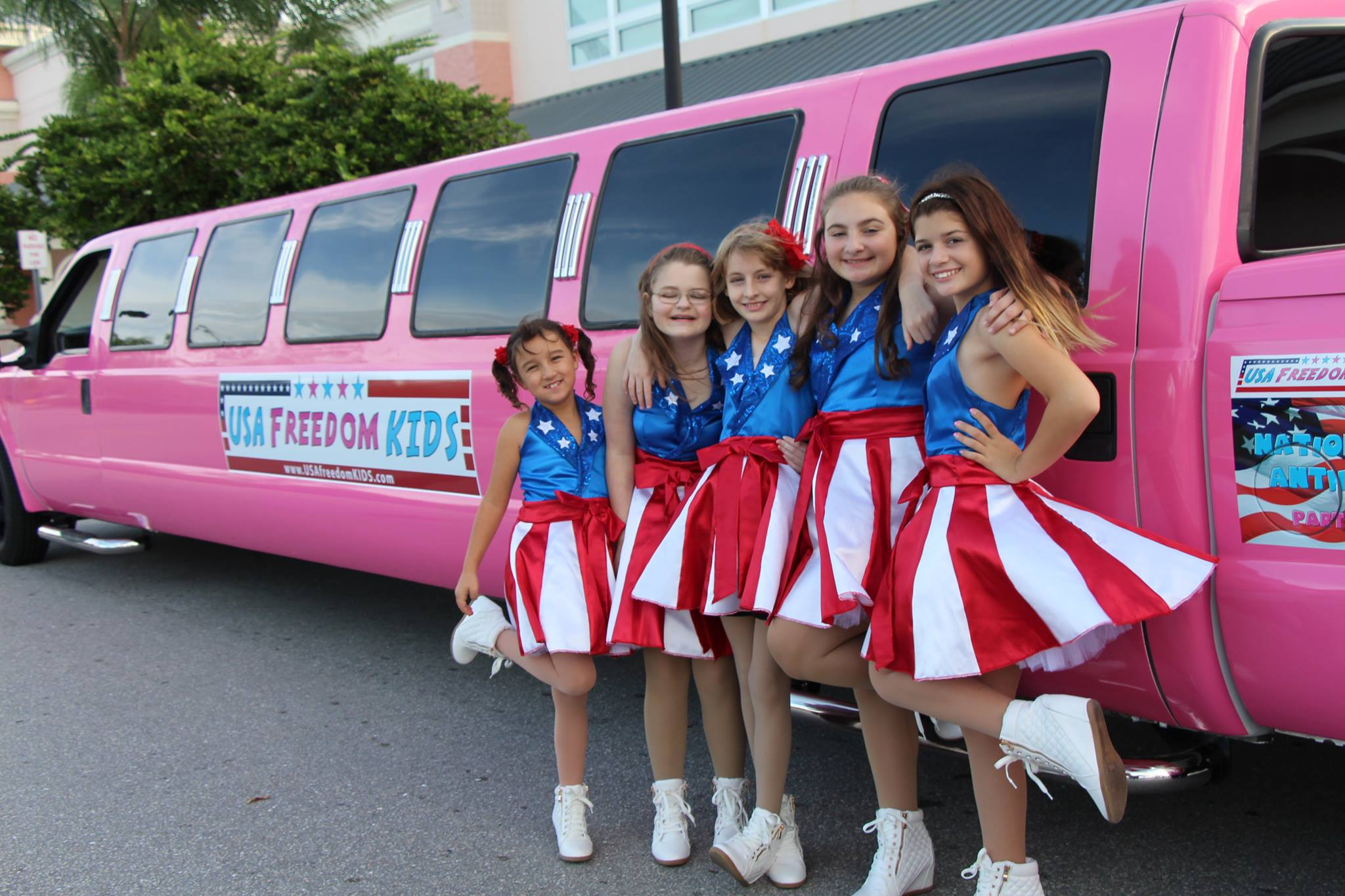The  USA Freedom Kids  is a girl group based in Florida. They performed for Donald Trump at the Republican presidential frontrunner's rally on Jan. 13.