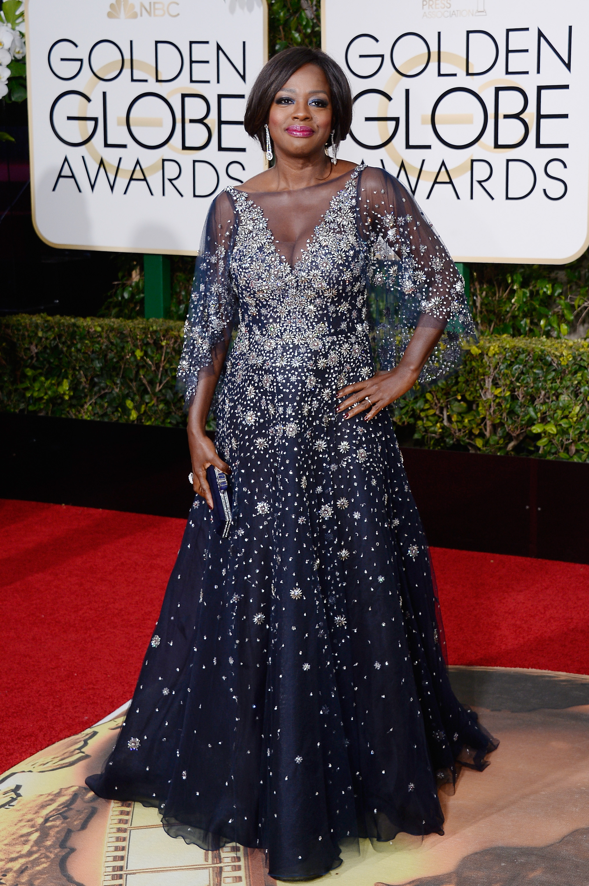 Viola Davis arrives to the 73rd Annual Golden Globe Awards on Jan. 10, 2016 in Beverly Hills.