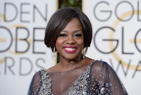 Actress Viola Davis arrives to the 73rd Annual Golden Globe Awards held at the Beverly Hilton Hotel on January 10, 2016.