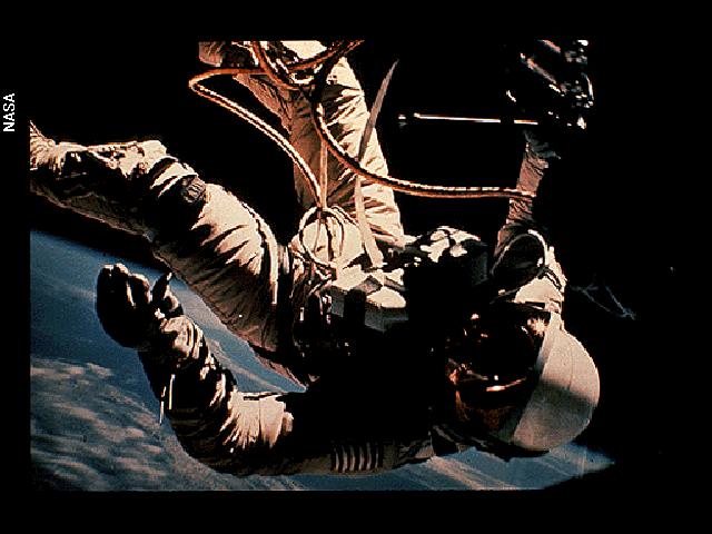 Gemini 4 astronaut Ed White, the first American to take a spacewalk.