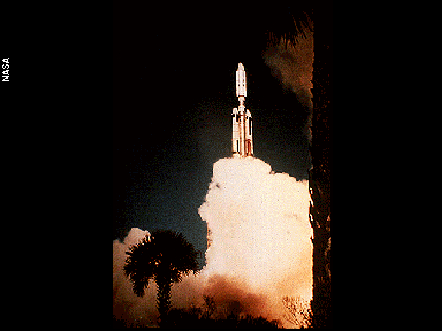 Voyager 2 launching aboard a Titan-Centaur rocket in Cape Canaveral, Fla., on Aug. 20, 1977.
