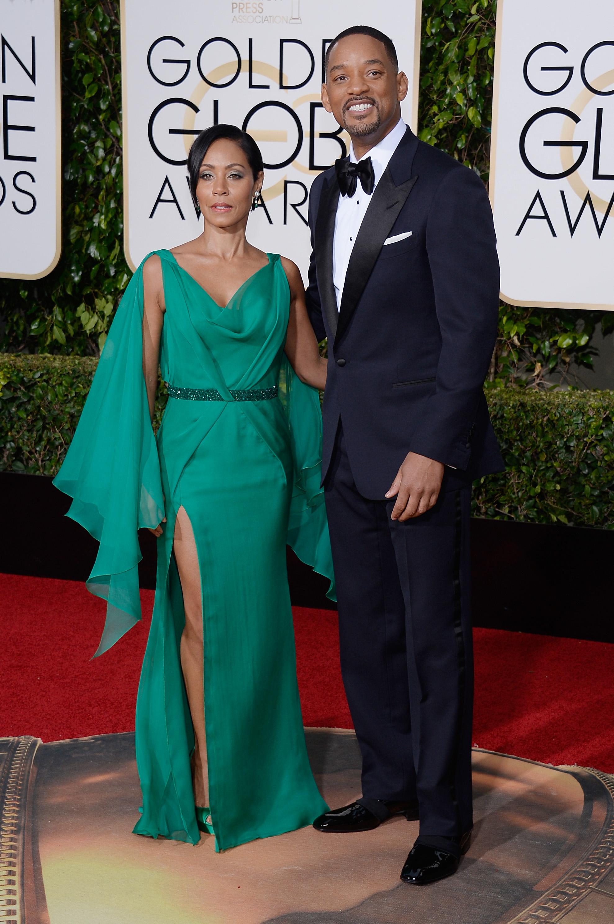 Jada Pinkett Smith and Will Smith arrive to the 73rd Annual Golden Globe Awards on Jan. 10, 2016 in Beverly Hills.