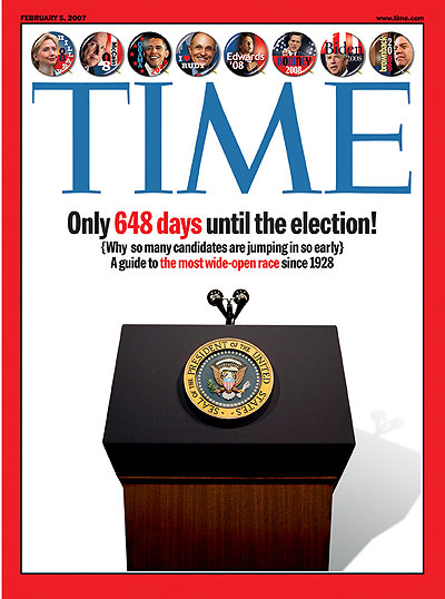 The Feb. 5, 2007, issue of TIME. (Hillary Clinton inset at top left.)