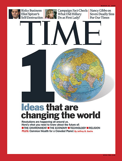 The Mar. 24, 2008, issue of TIME. (Hillary Clinton inset at top.)