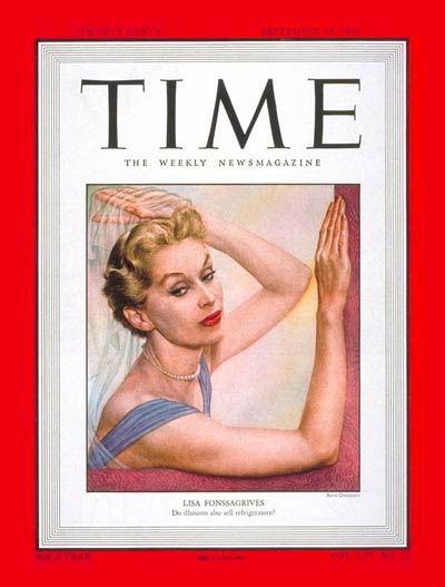 Lisa Fonssagrives on the Sep. 19, 1949, cover of TIME
