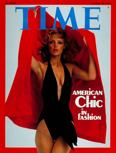 Unidentified model, in Halston, on the Mar. 22, 1976, cover of TIME.