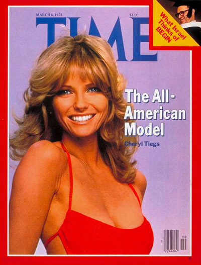 Cheryl Tiegs on the Mar. 6, 1978, cover of TIME