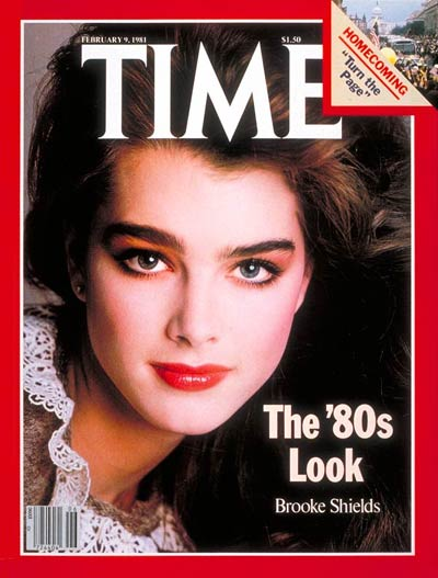 Brooke Shields on the Feb. 9, 1981, cover of TIME