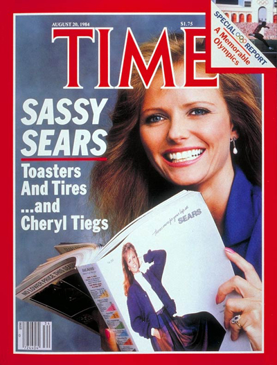 Cheryl Tiegs on the Aug. 20, 1984, cover of TIME