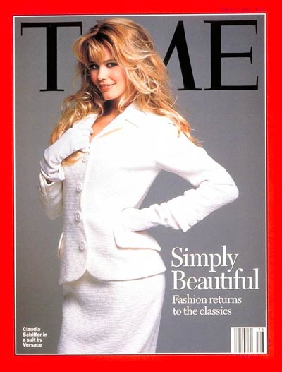Claudia Schiffer on the Apr. 17, 1995, cover of TIME