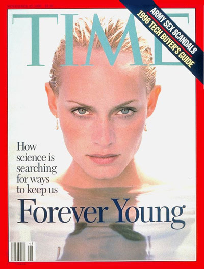 Amber Valetta on the Nov. 25, 1996, cover of TIME