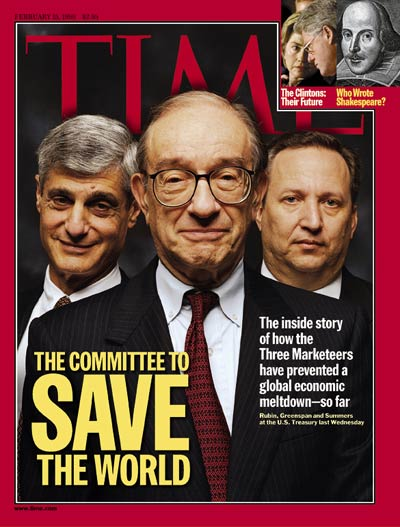 The Feb. 15, 1999, issue of TIME. (Hillary Clinton inset at top right.)