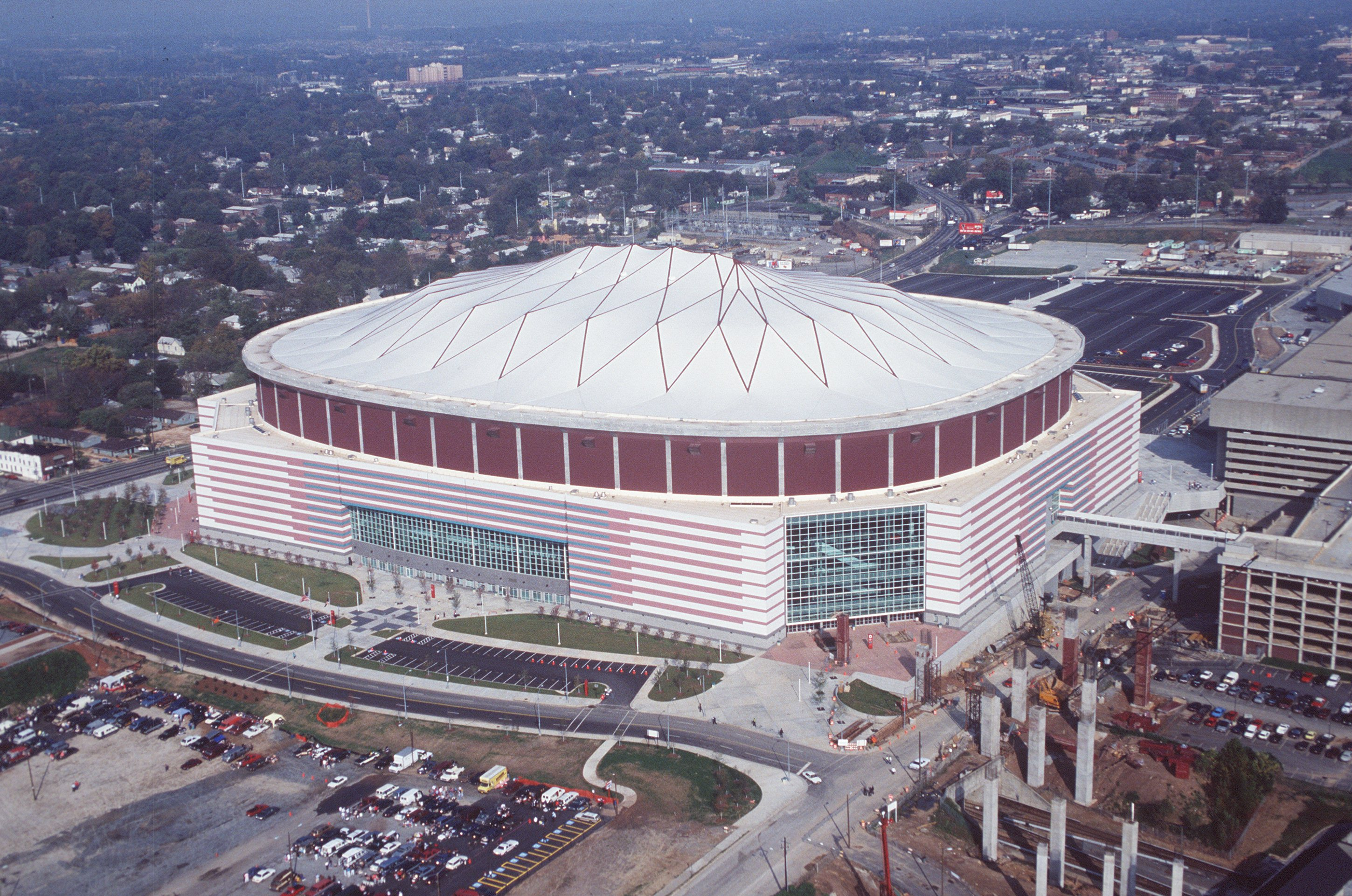 Completed in 1992, the Georgia Dome has been the home of the Atlanta Falcons ever since.