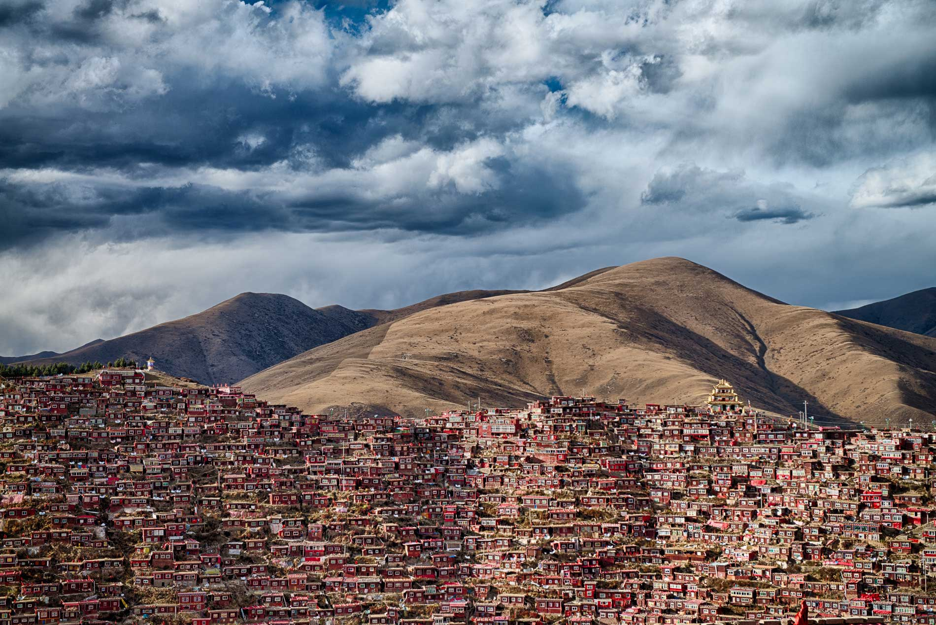 Home of 40 thousand Buddhist monks in China's Sichuan Province.