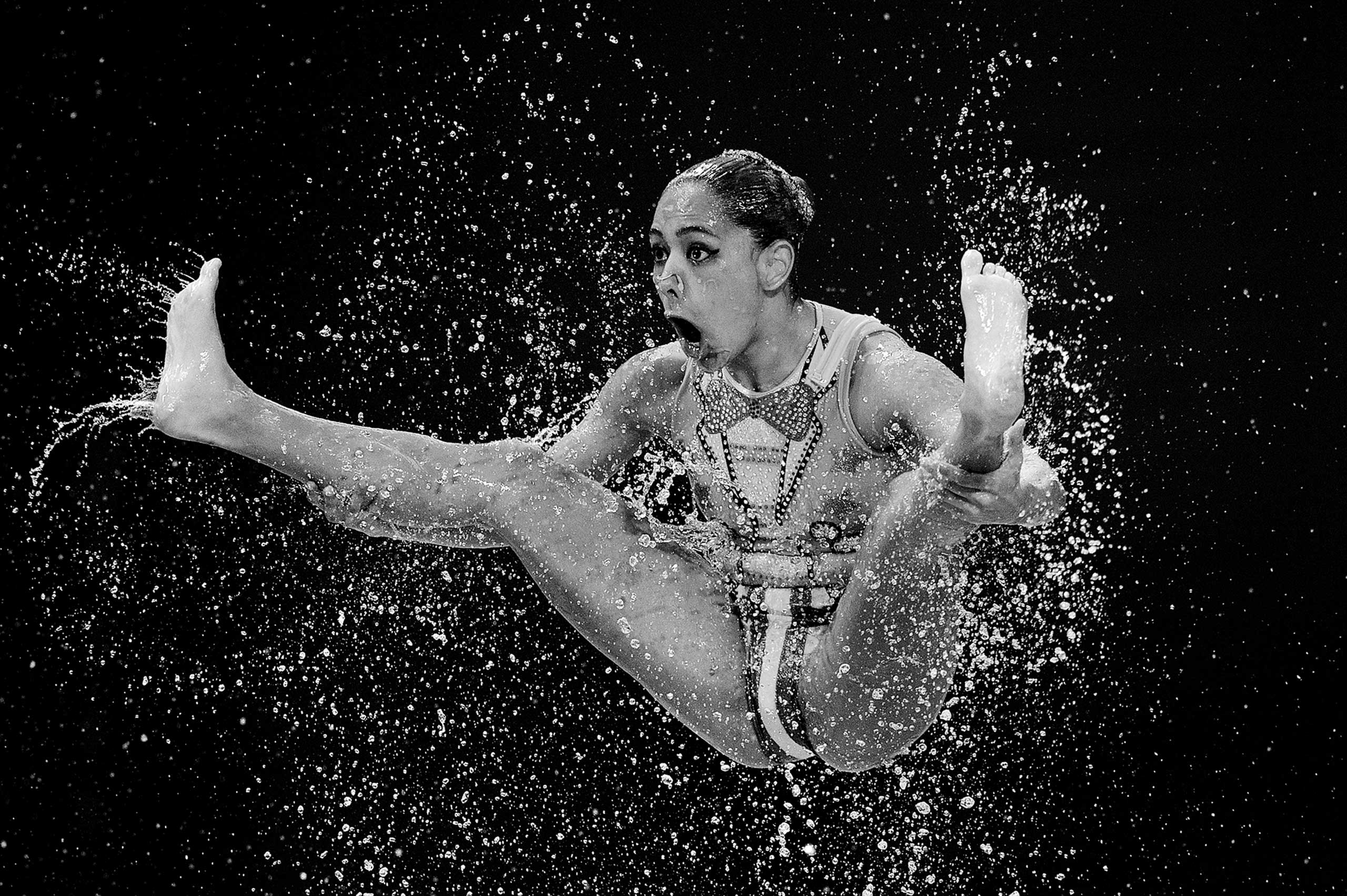 Teams compete in the Women's Team Free Synchronised Swimming Preliminary on day four of the 16th FINA World Championships at the Kazan Arena on July 28, 2015 in Kazan, Russia.