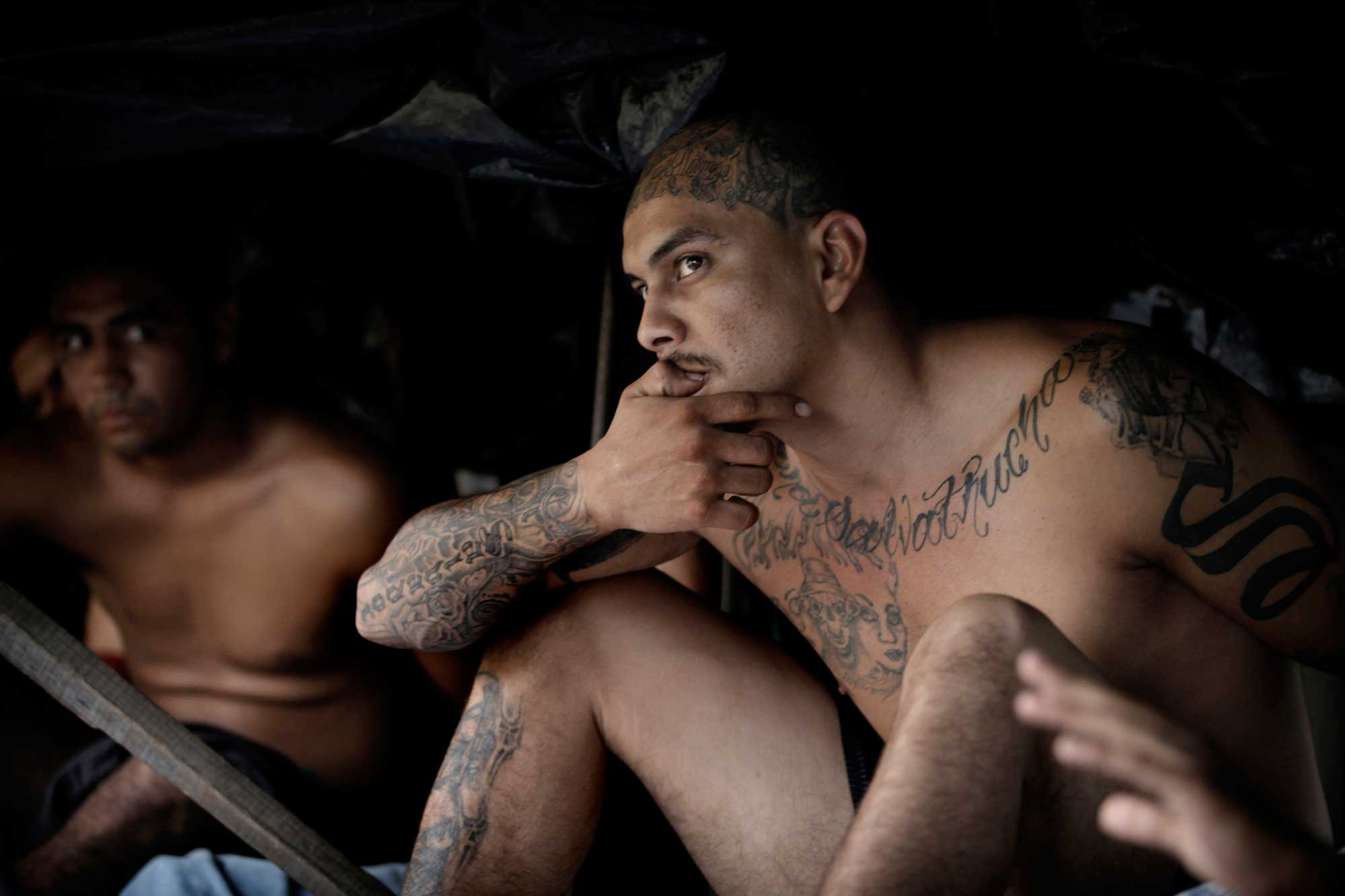 A members of the Mara Salvatrucha, or MS13, a transnational criminal gang which originated on the streets of Los Angeles along with its main rival, the Barrio 18 gang. El Salvador has seen escalating crime rates that is rapidly making the country the deadliest place in the world.
