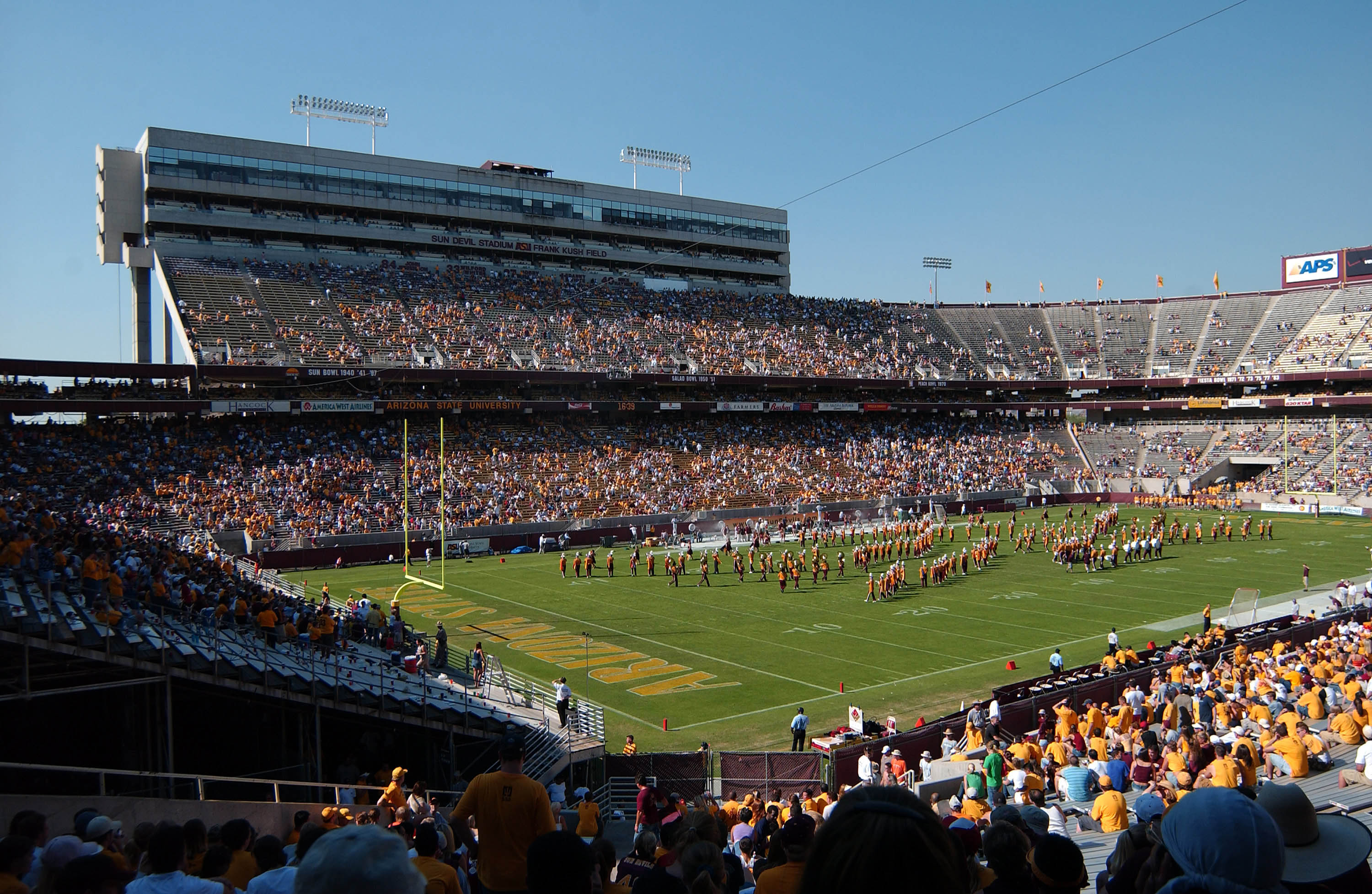 Opened in 1958, the stadium was originally the home of the Arizona State University Sun Devils; it also hosted the Arizona Cardinals from 1988 to 2005. Although the Cardinals left in 2006 for a new stadium across town, the Sun Devils remain.