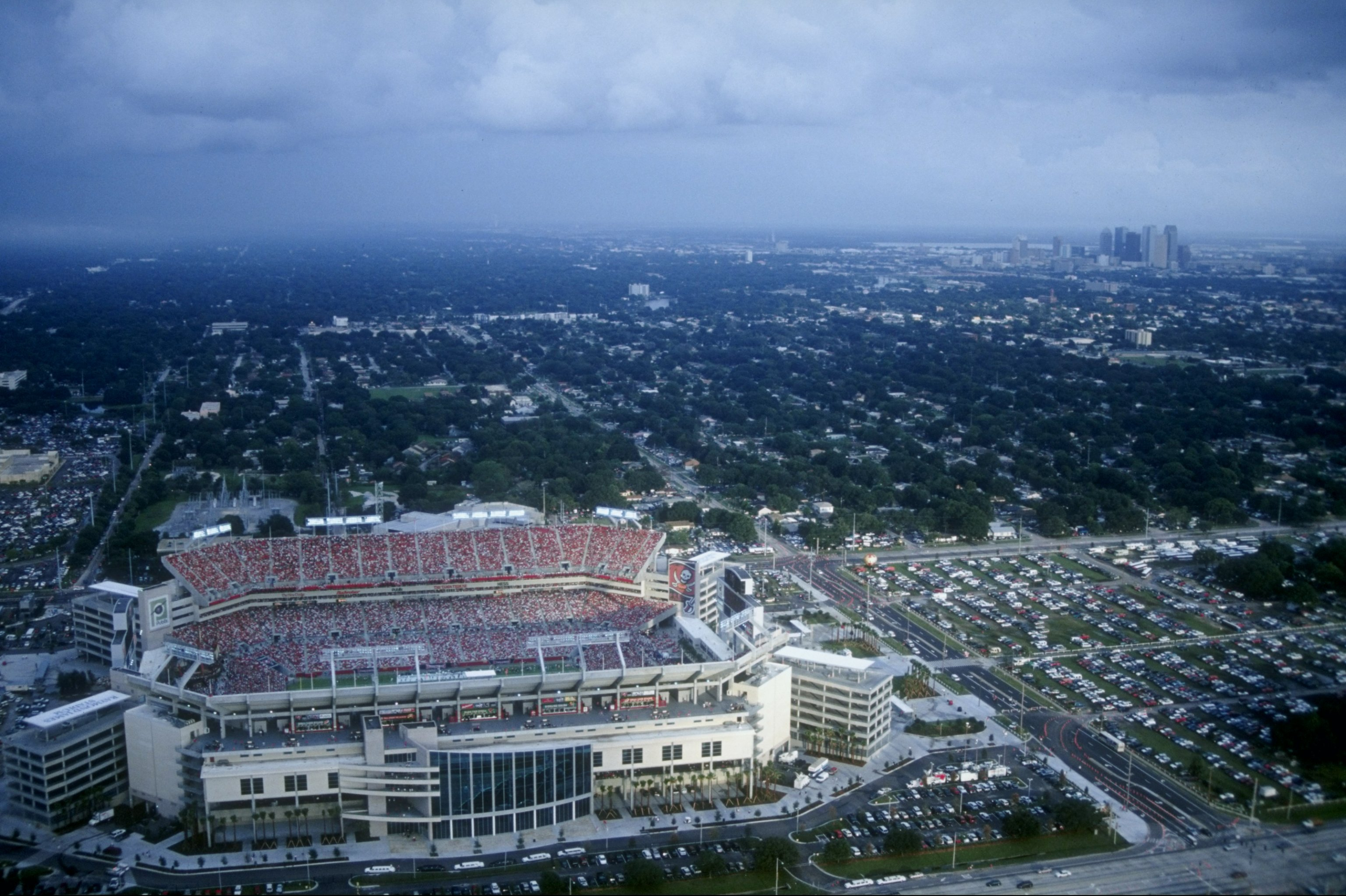 The Tampa Bay Buccaneers took up residence here in 1998 after Malcolm Glazer's purchase of the franchise.