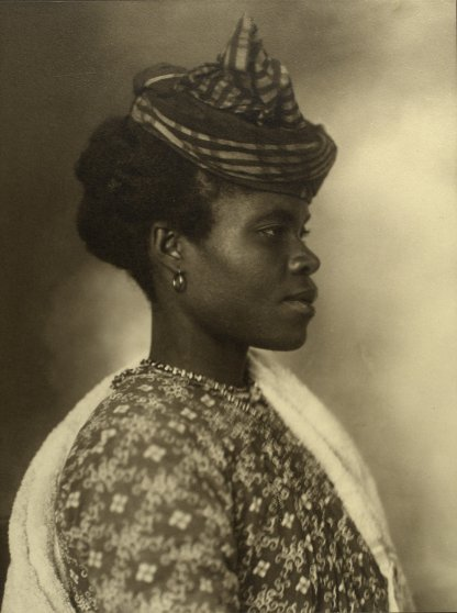 Portrait of a Guadeloupean woman at the Ellis Island Immigration Station, 1911.