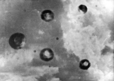 Claimed To Be The First Sensational Picture Of The Mysterious Objects Popularly Known As Flying Saucers, This Photograph Is Reproduced From The Issue Teenage Times In Dublin. The Photograph Is Accompagnied By A News Story Which States That The Flying Sauc
