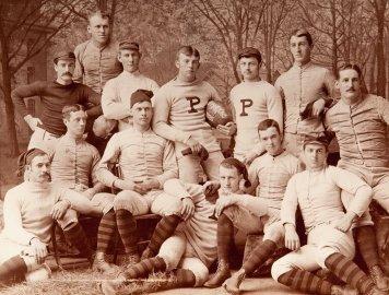 Princeton University championship football team. Circa 1885.