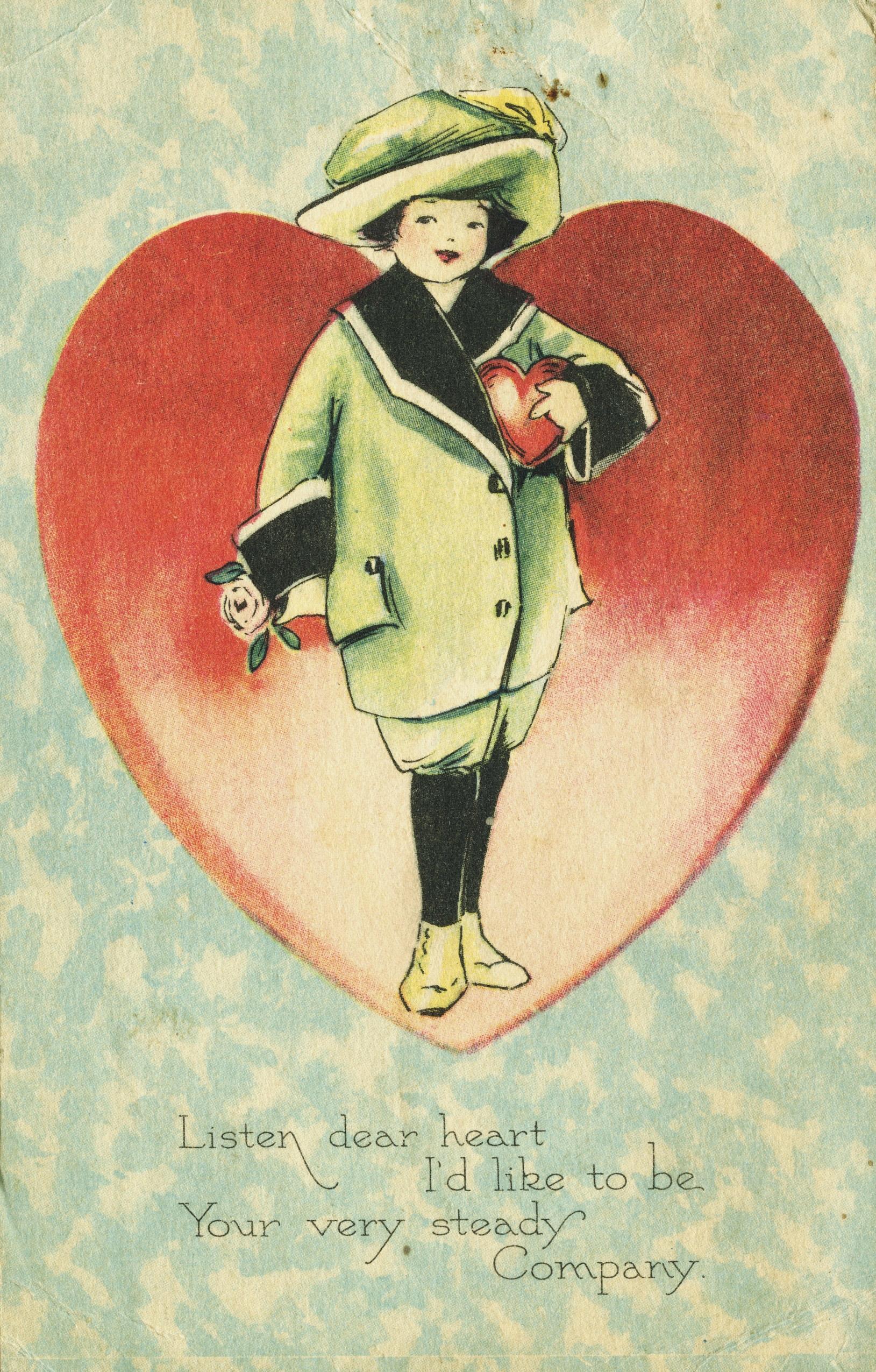 Vintage Valentine's Day card circa 1930.