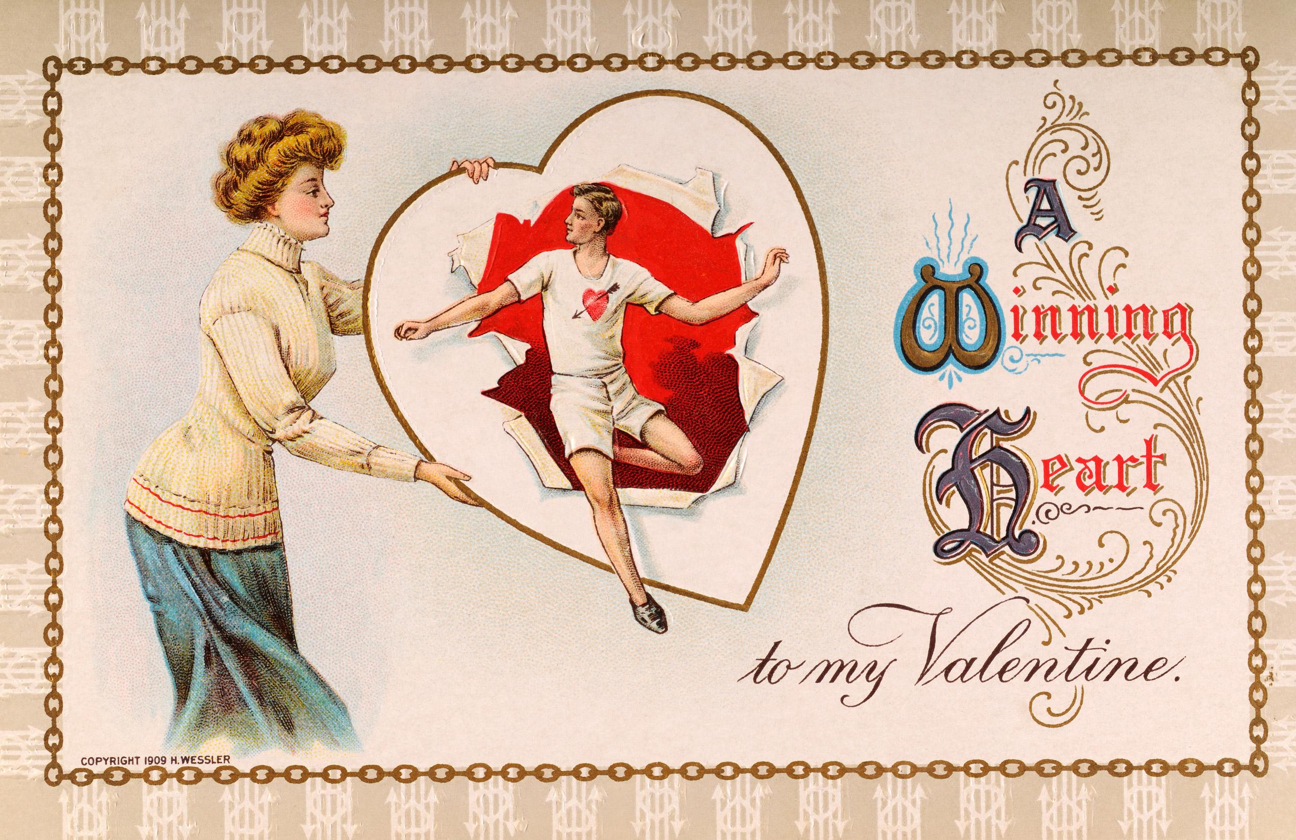 Vintage Valentine's Day card circa 1920.