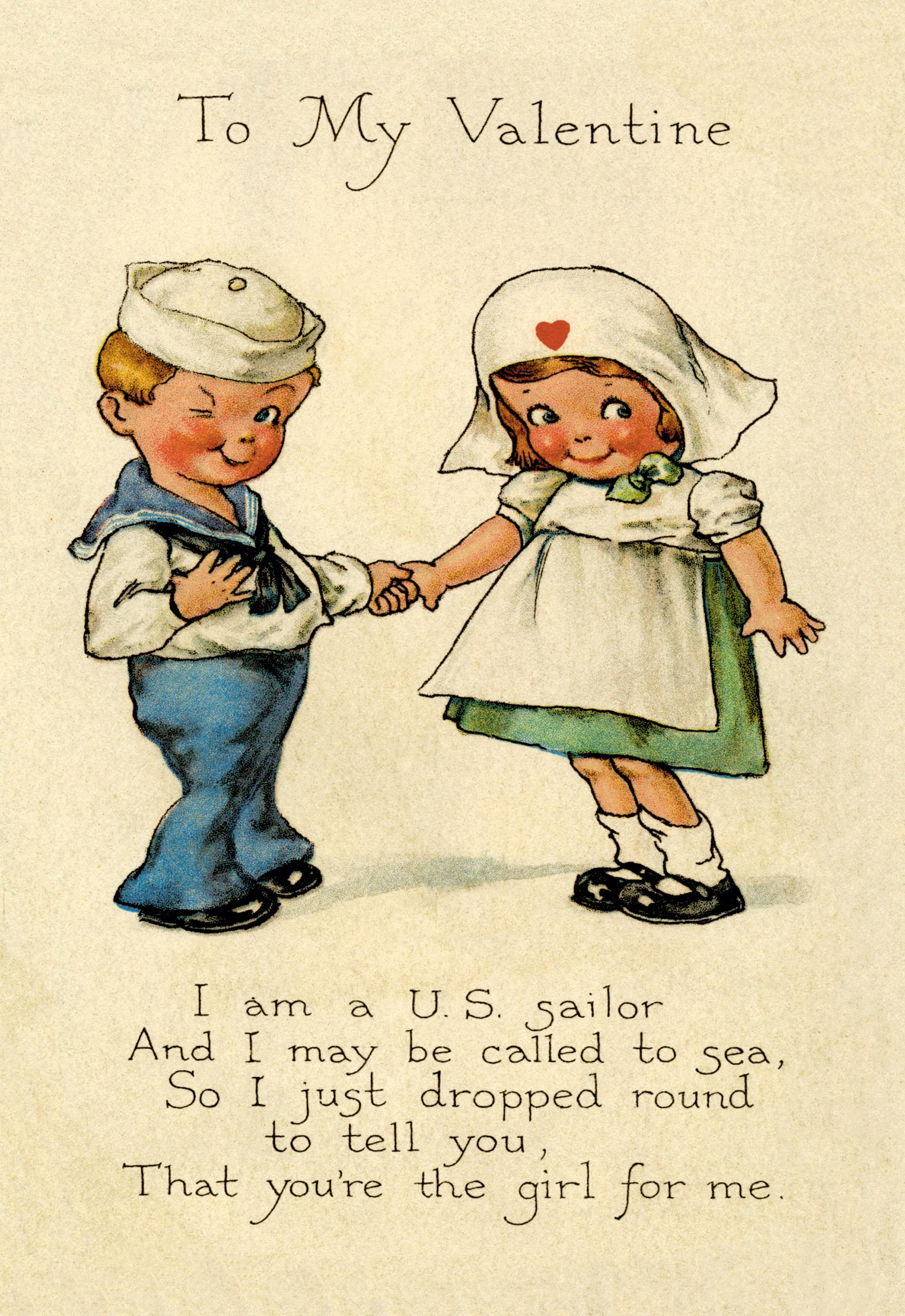 Vintage Valentine's Day card circa 1910.