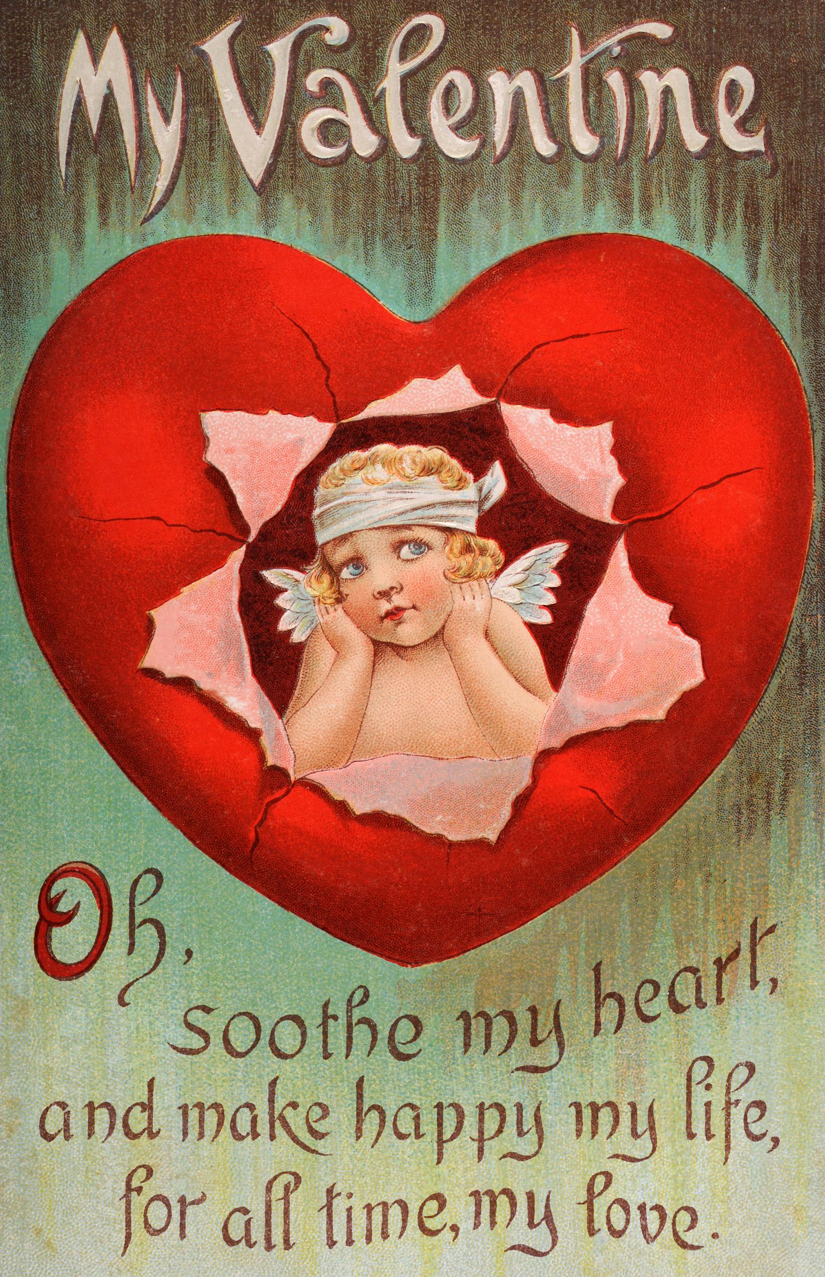 Vintage Valentine's Day card circa 1900.