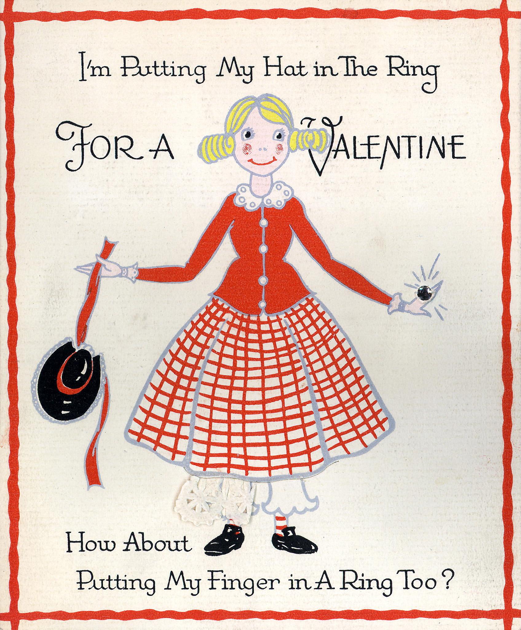 Vintage Valentine's Day card circa 1935.