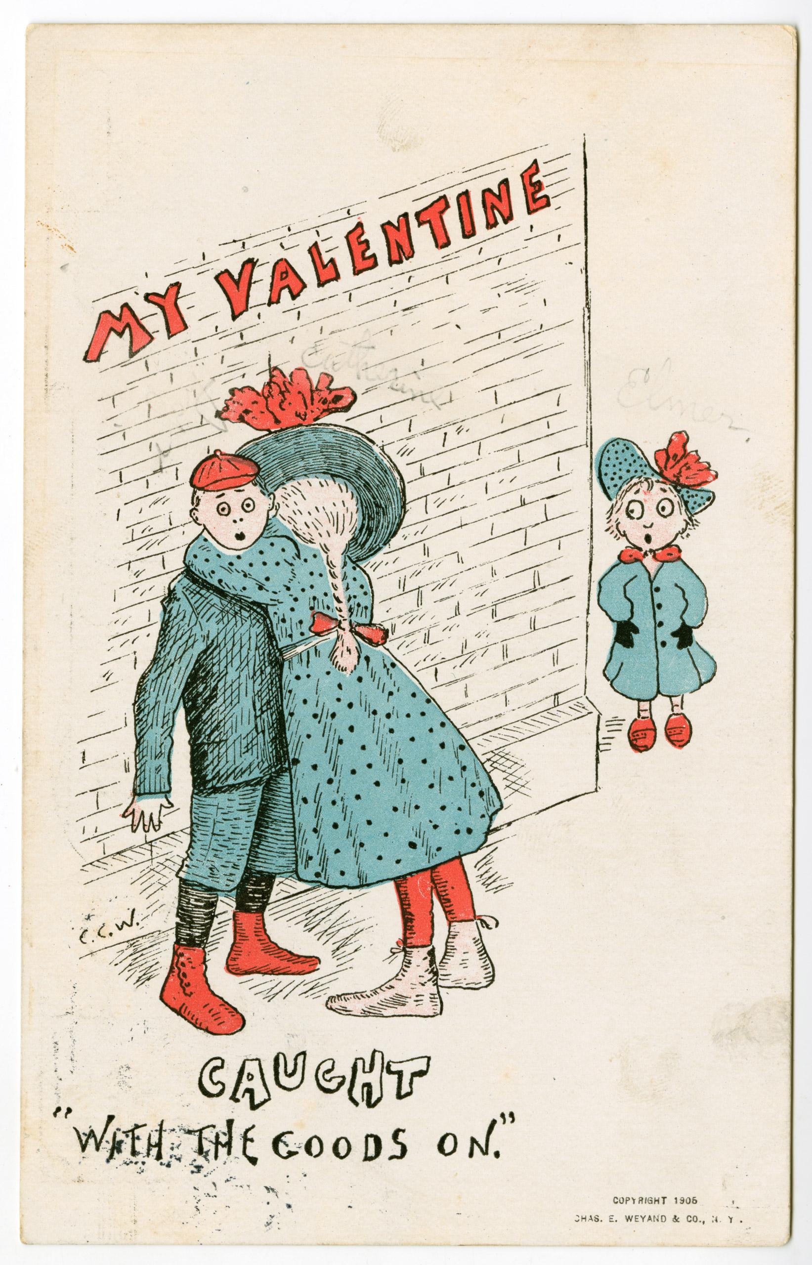 Vintage Valentine's Day card circa 1906.