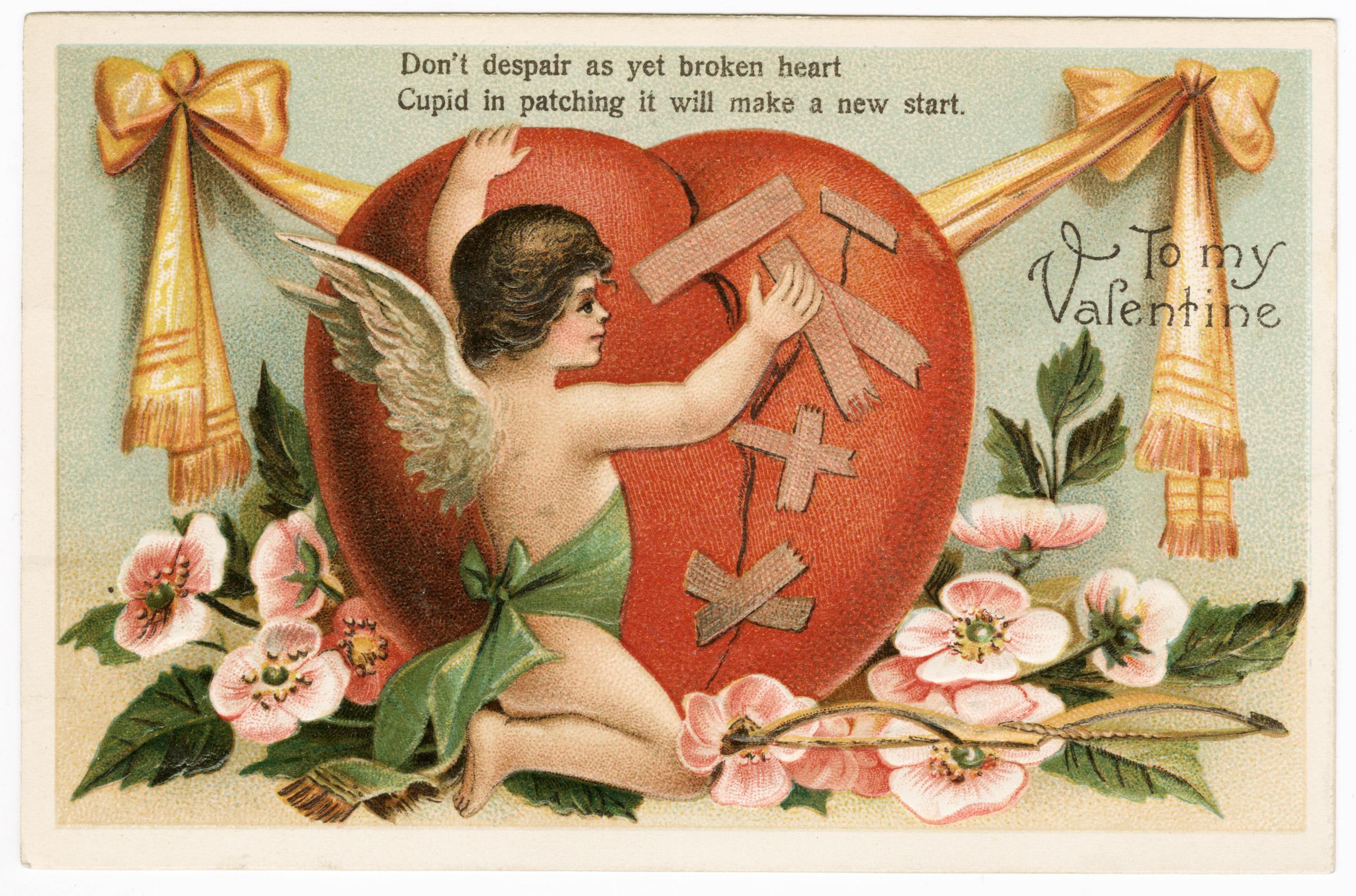 Vintage Valentine's Day card circa 1909.