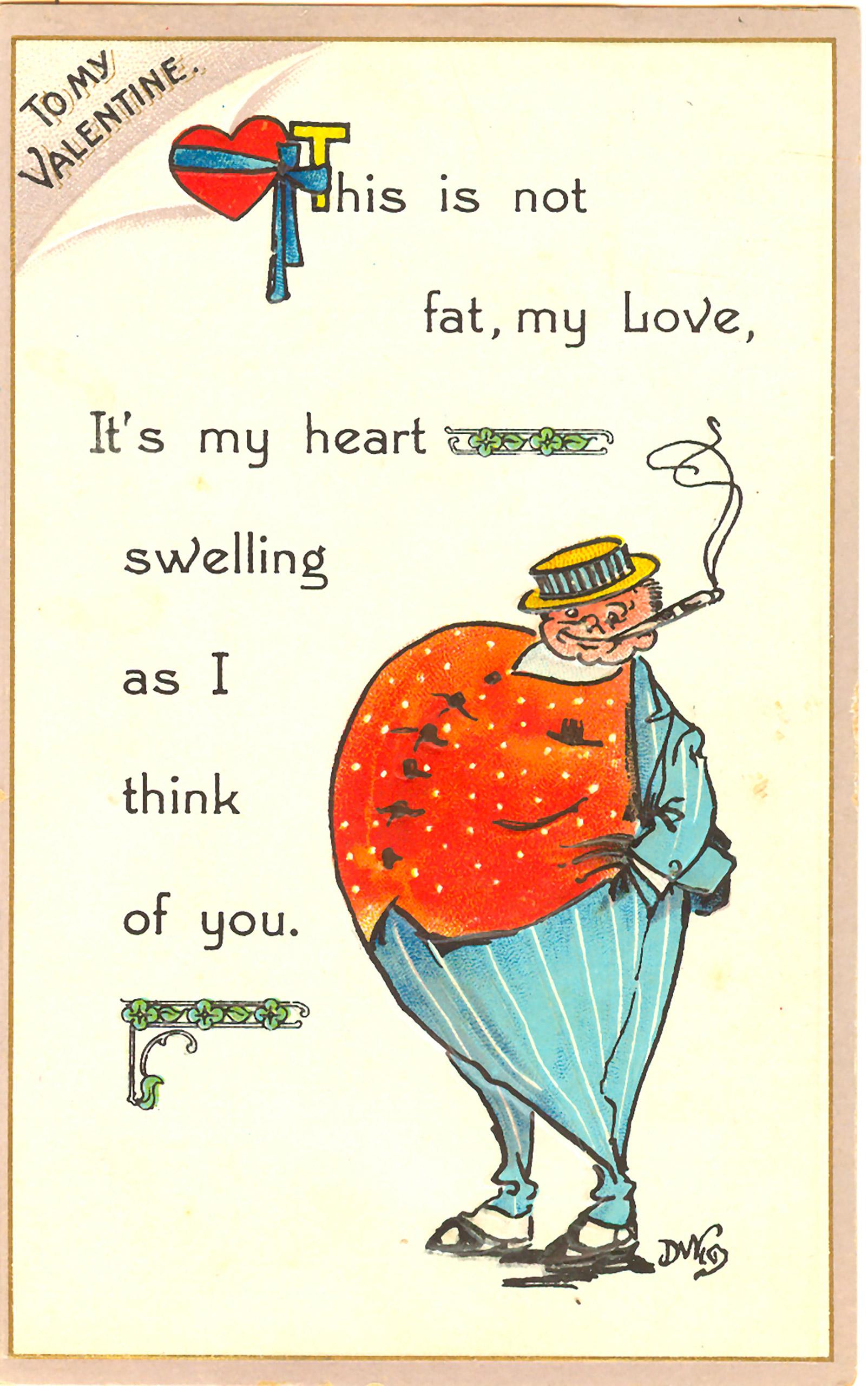 Vintage Valentine's Day card circa 1915.