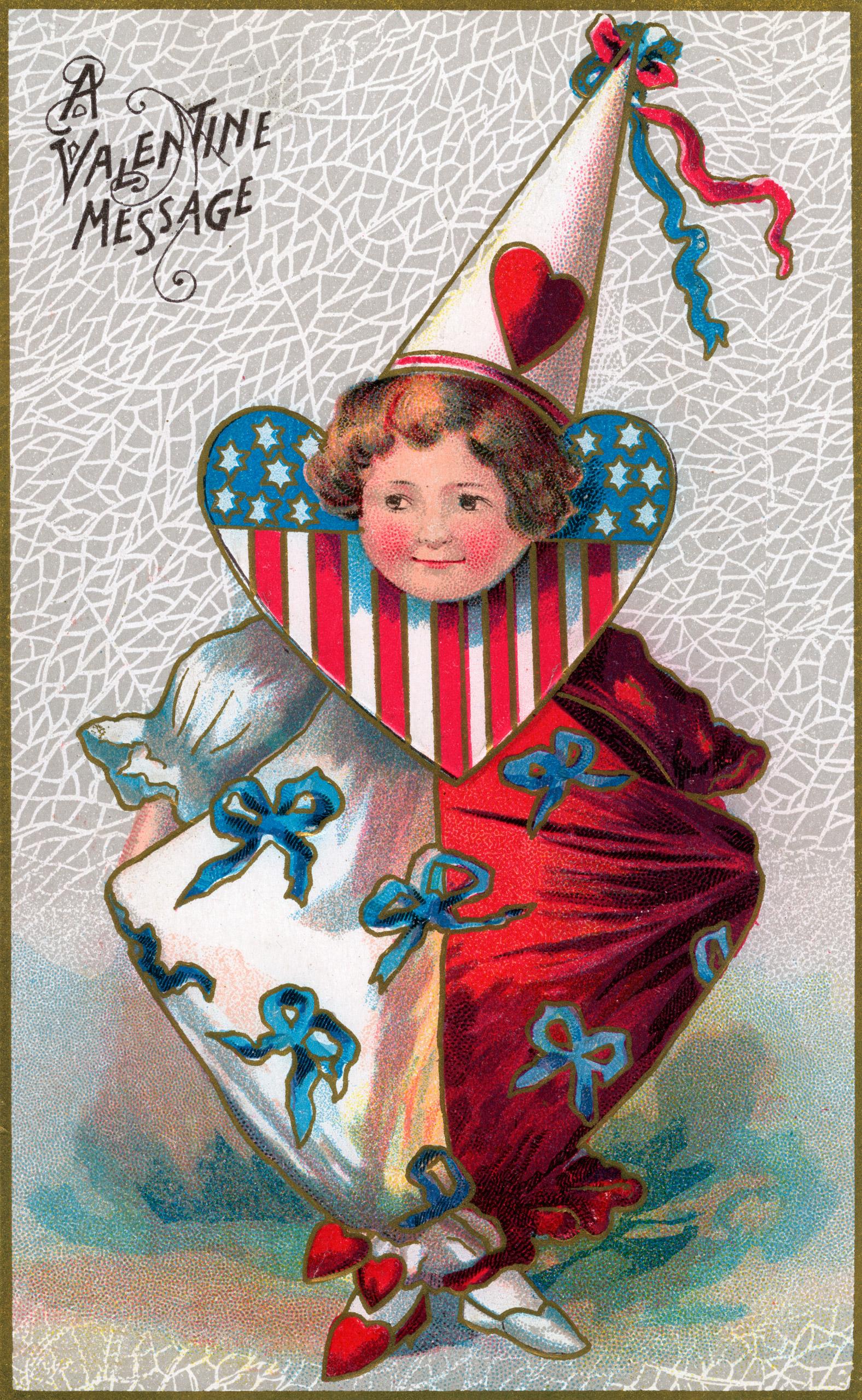 Vintage Valentine's Day card circa 1907.