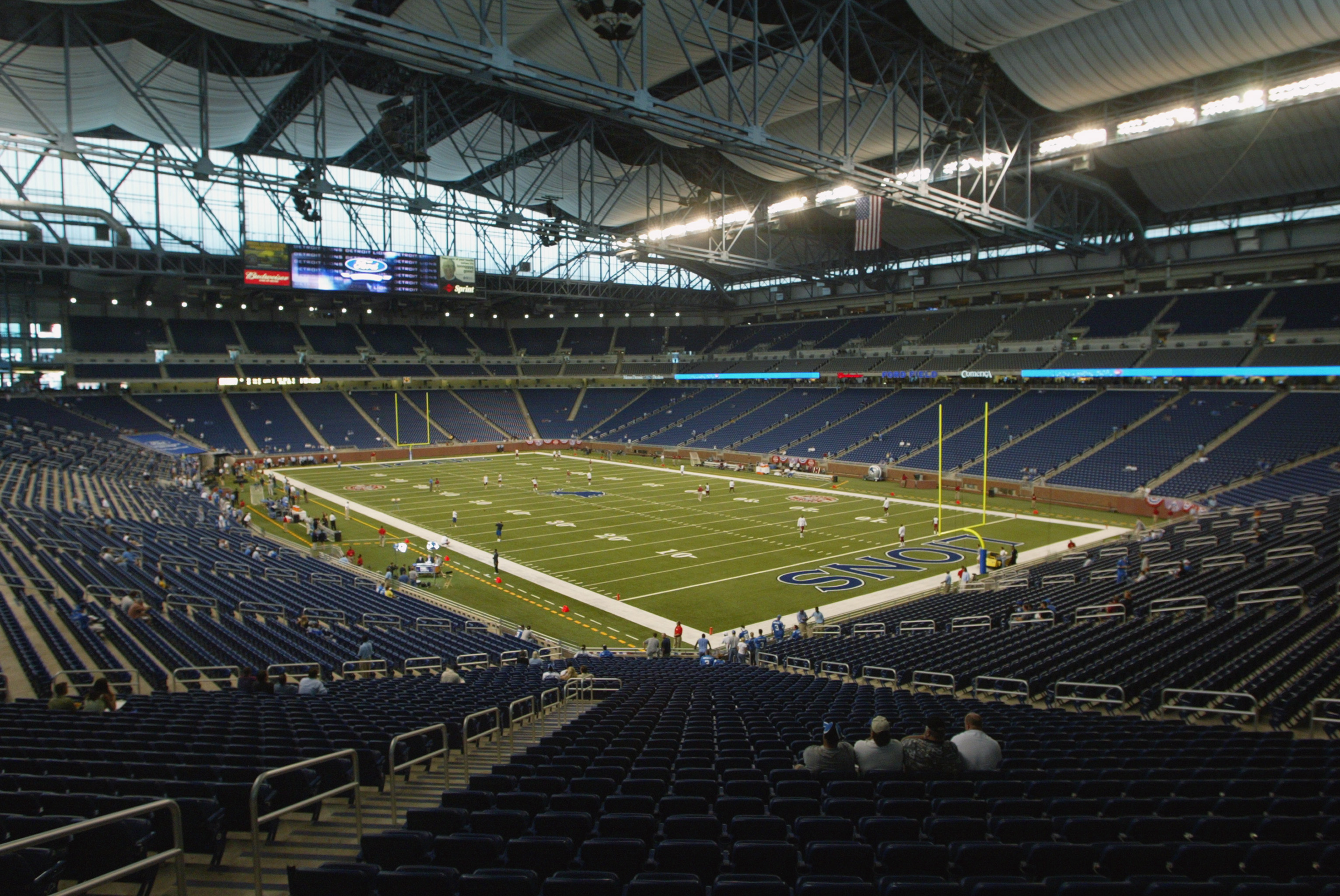 The indoor stadium opened in 2002, replacing the Pontiac Silverdome as the home of the Detroit Lions.