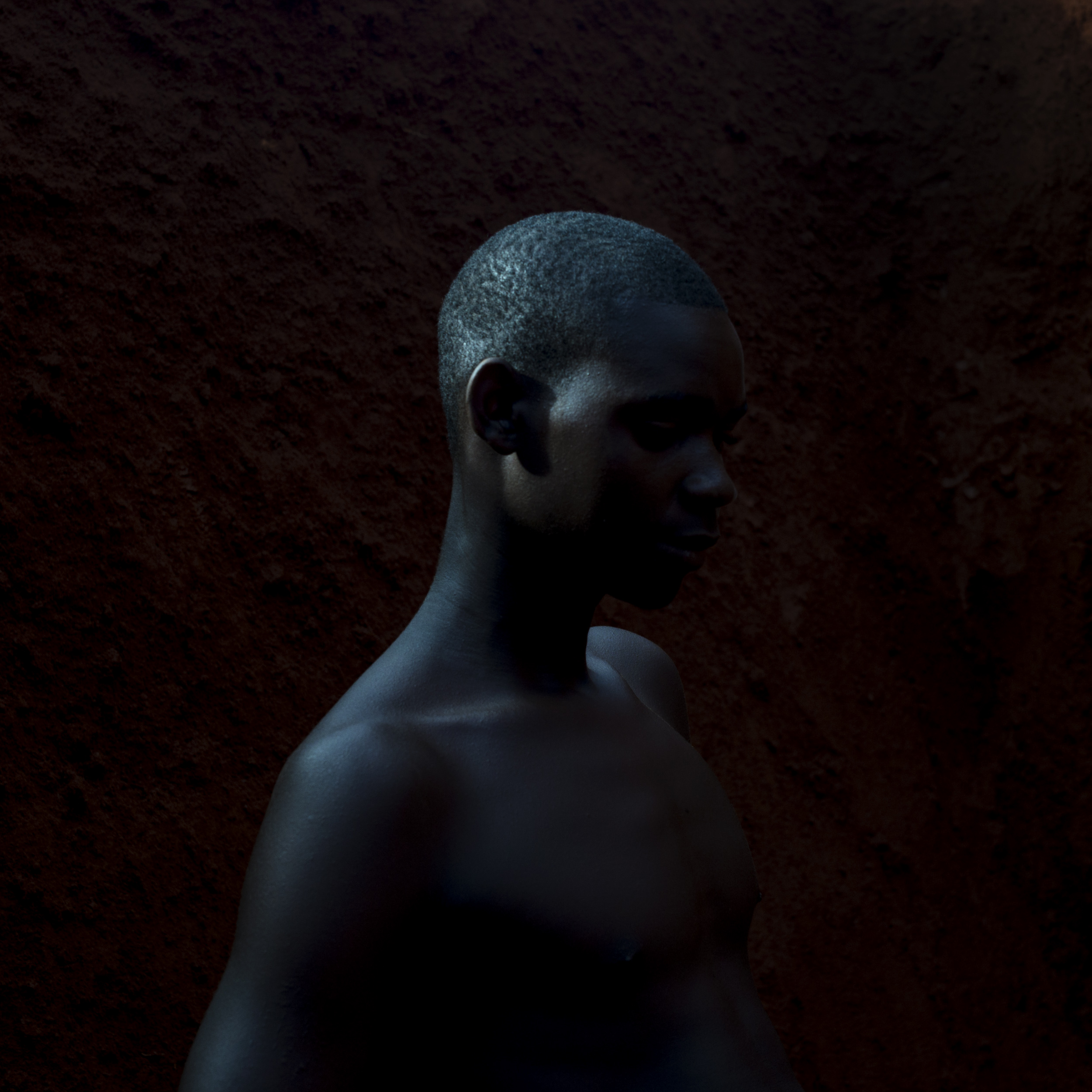 A miner from the Koro diamond mine, near Carnot, poses for a portrait, Oct. 19, 2015.