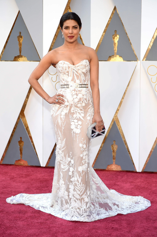 Priyanka Chopra attends the 88th Annual Academy Awards on Feb. 28, 2016 in Hollywood, Calif.