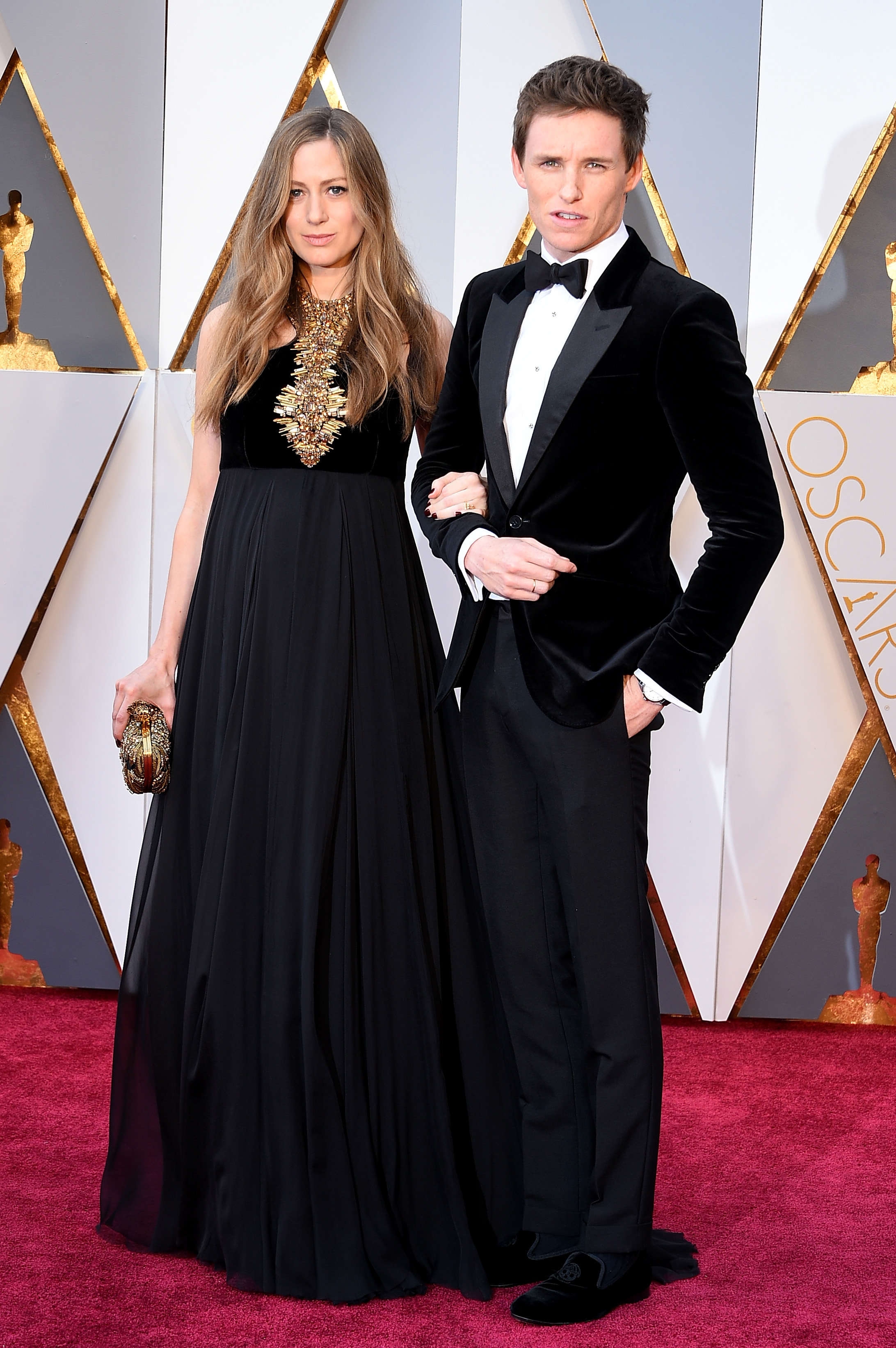 Hannah Redmayne and Eddie Redmayne attend the 88th Annual Academy Awards on Feb. 28, 2016 in Hollywood, Calif.