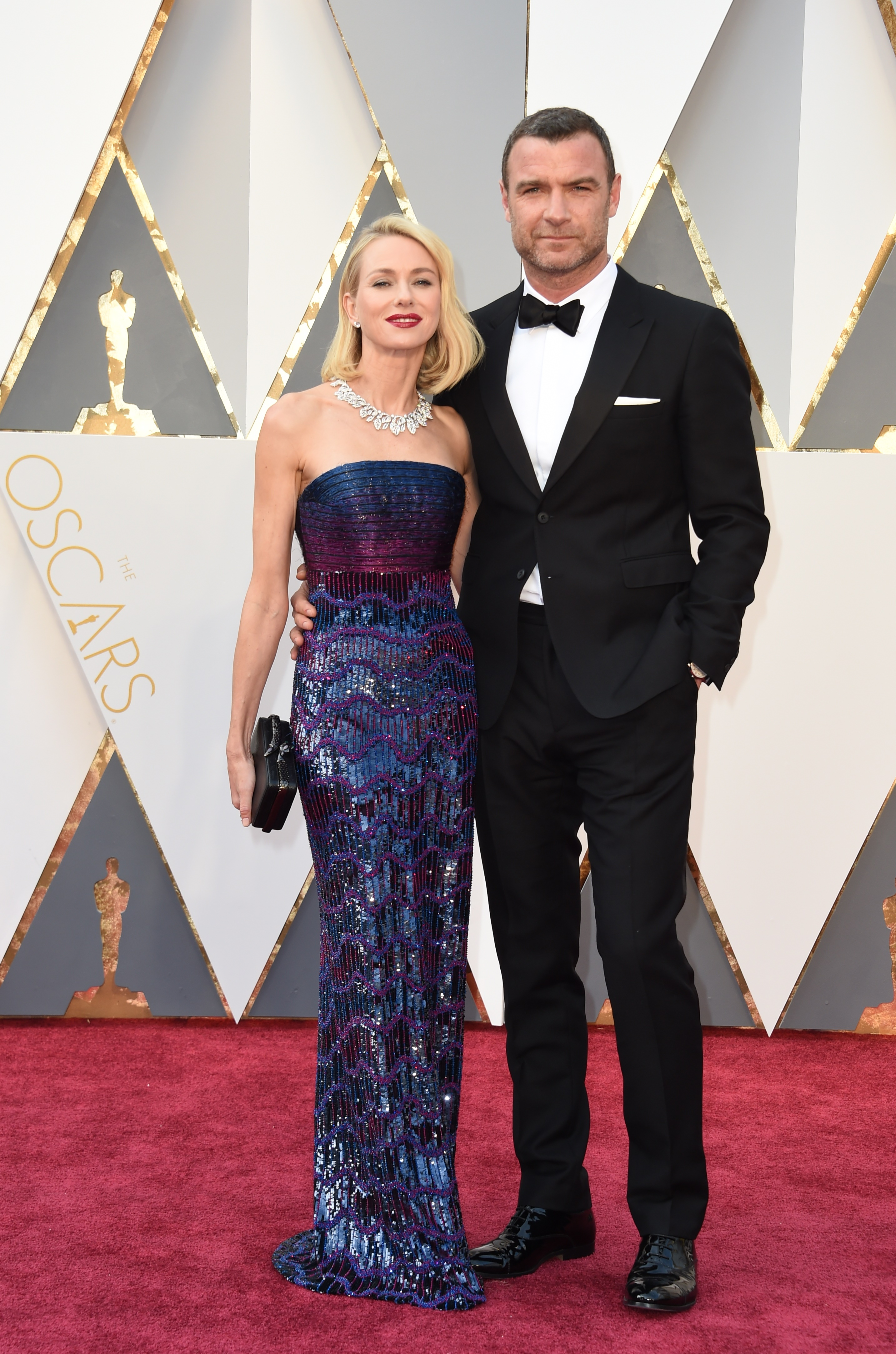 Naomi Watts and Liev Schreiber attend the 88th Annual Academy Awards on Feb. 28, 2016 in Hollywood, Calif.