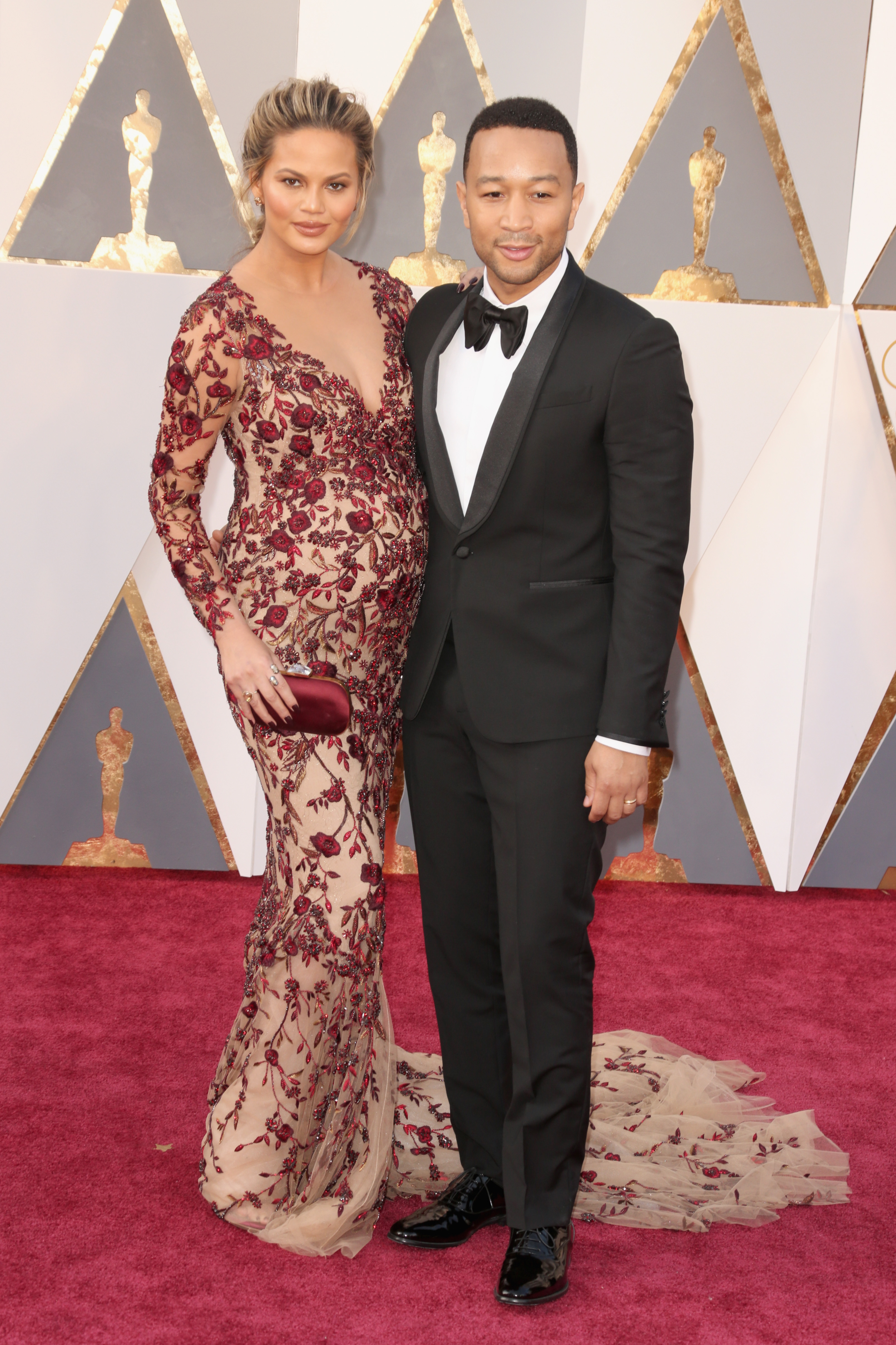 Chrissy Teigen and John Legend attend the 88th Annual Academy Awards on Feb. 28, 2016 in Hollywood, Calif.
