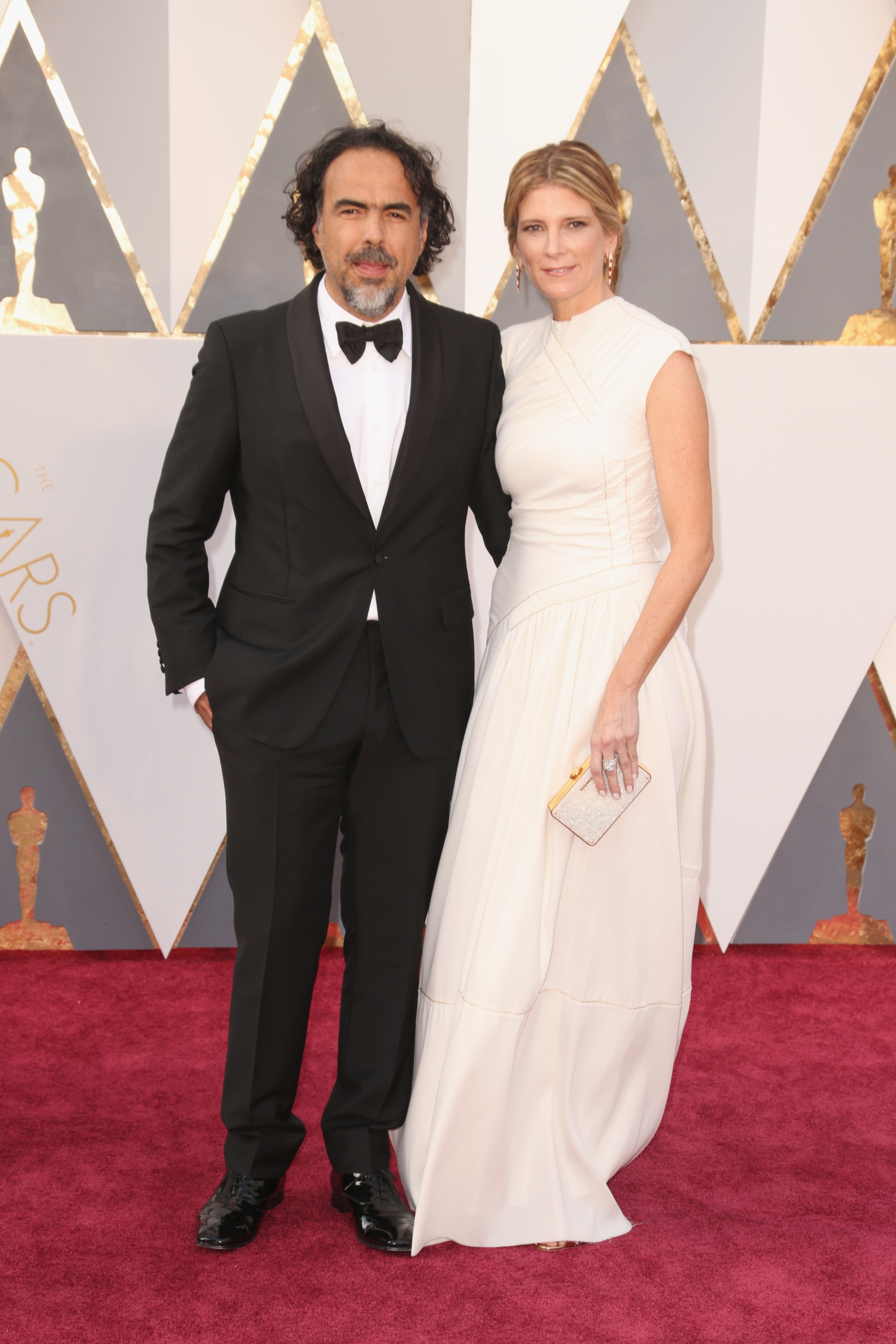 Alejandro Iñárritu and Maria Eladia Hagerman attend the 88th Annual Academy Awards on Feb. 28, 2016 in Hollywood, Calif.